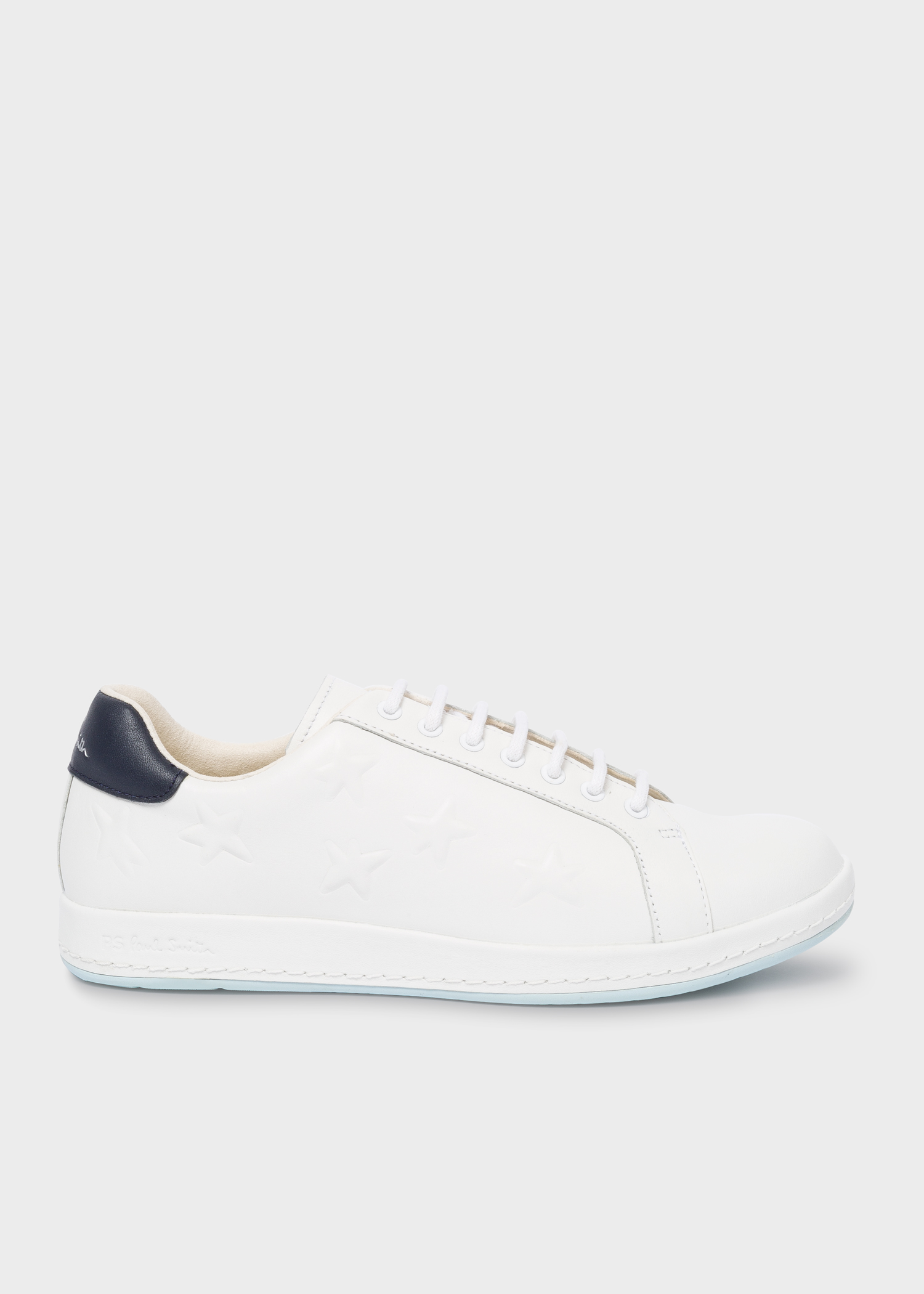 72730629ccc Paul Smith Women's White Leather 'Lapin' Trainers With Embossed Stars