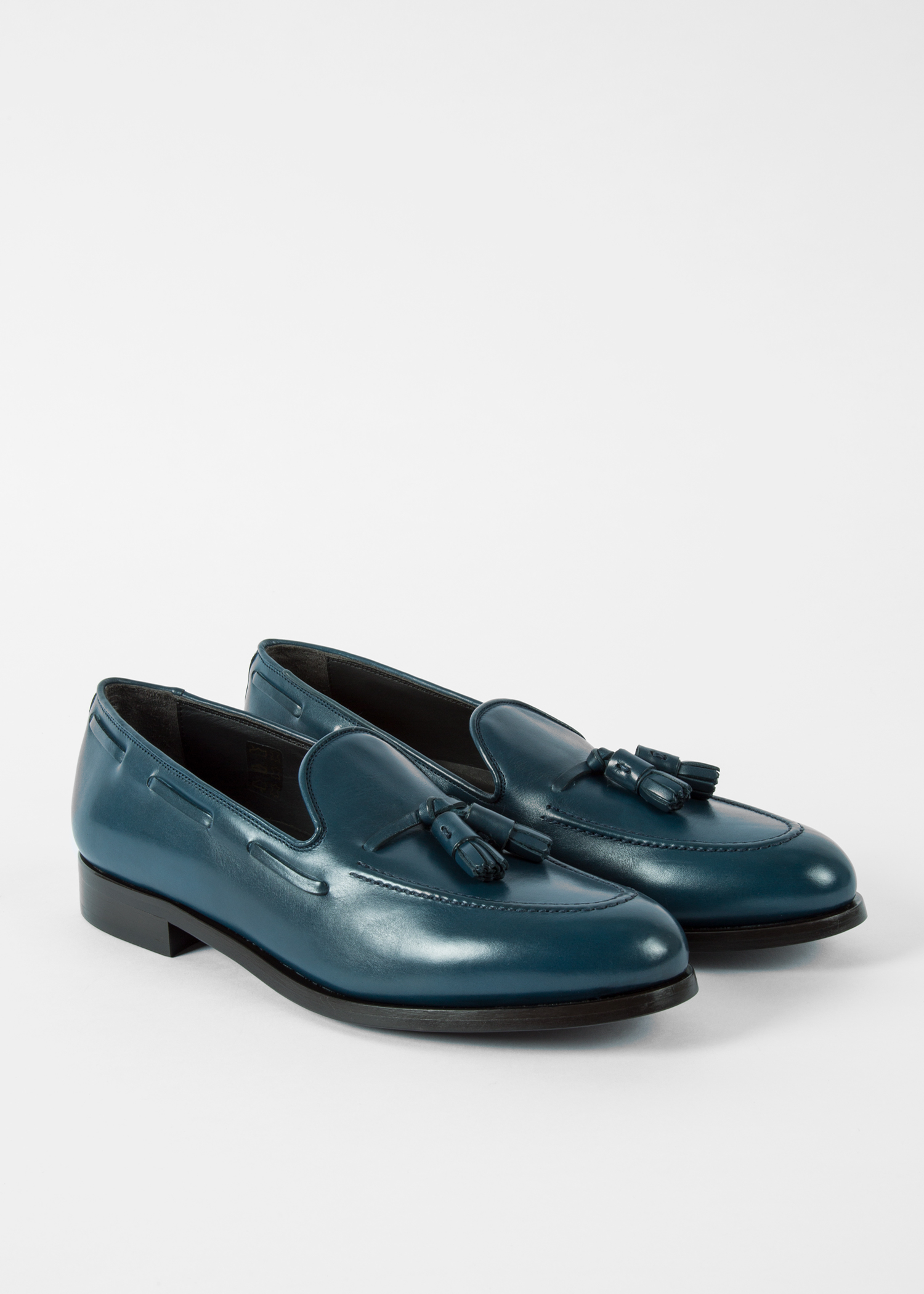 398a154d1bf Men s Navy Leather  Simmons  Tasseled Loafers - Paul Smith Asia
