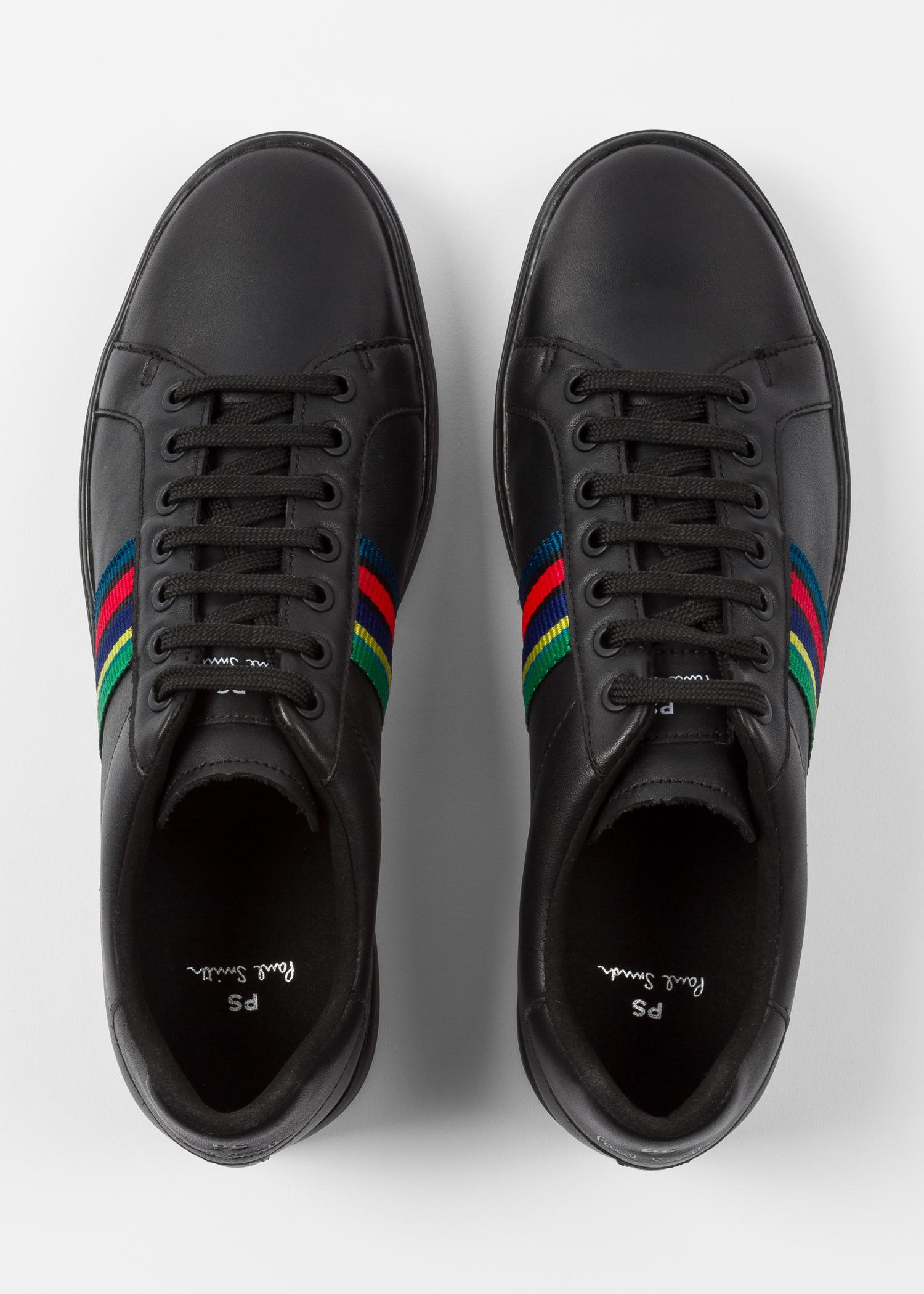 445809789c Men's Black Calf Leather 'Lapin' Trainers