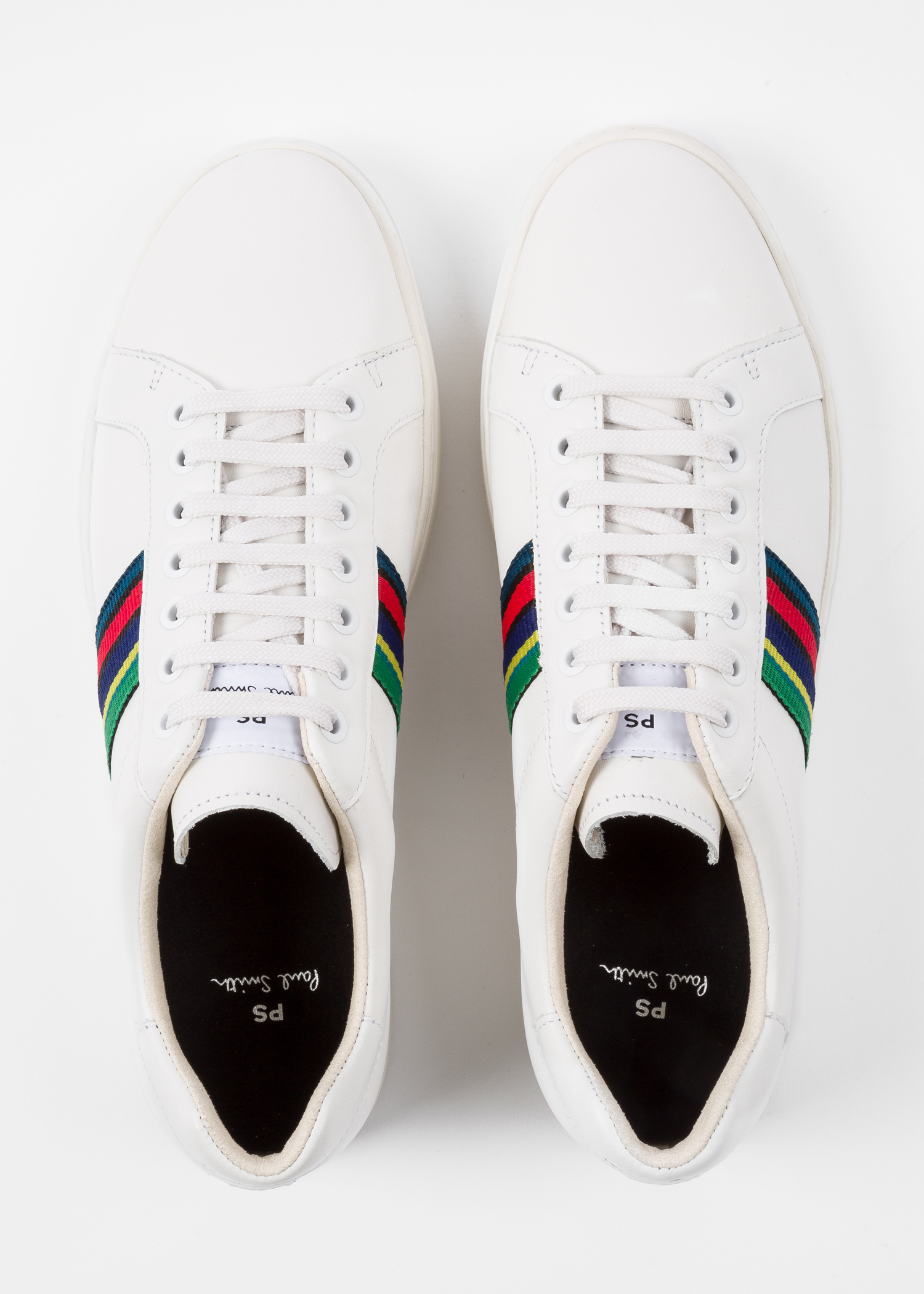 9ee6518c92f Men's White Calf Leather 'Lapin' Trainers - Paul Smith Asia