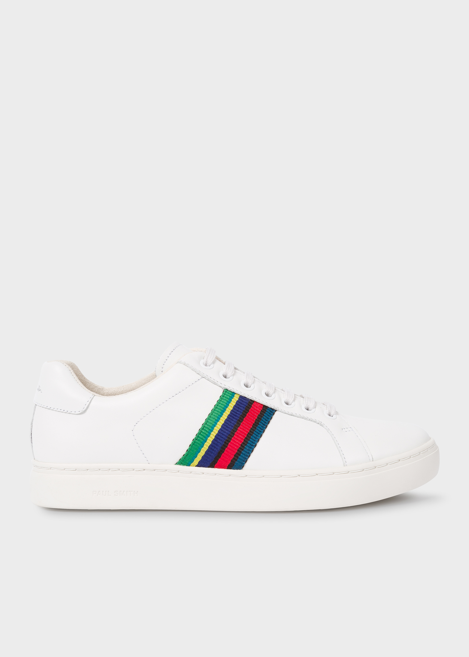 aa886fe421 Men's White Calf Leather 'Lapin' Trainers