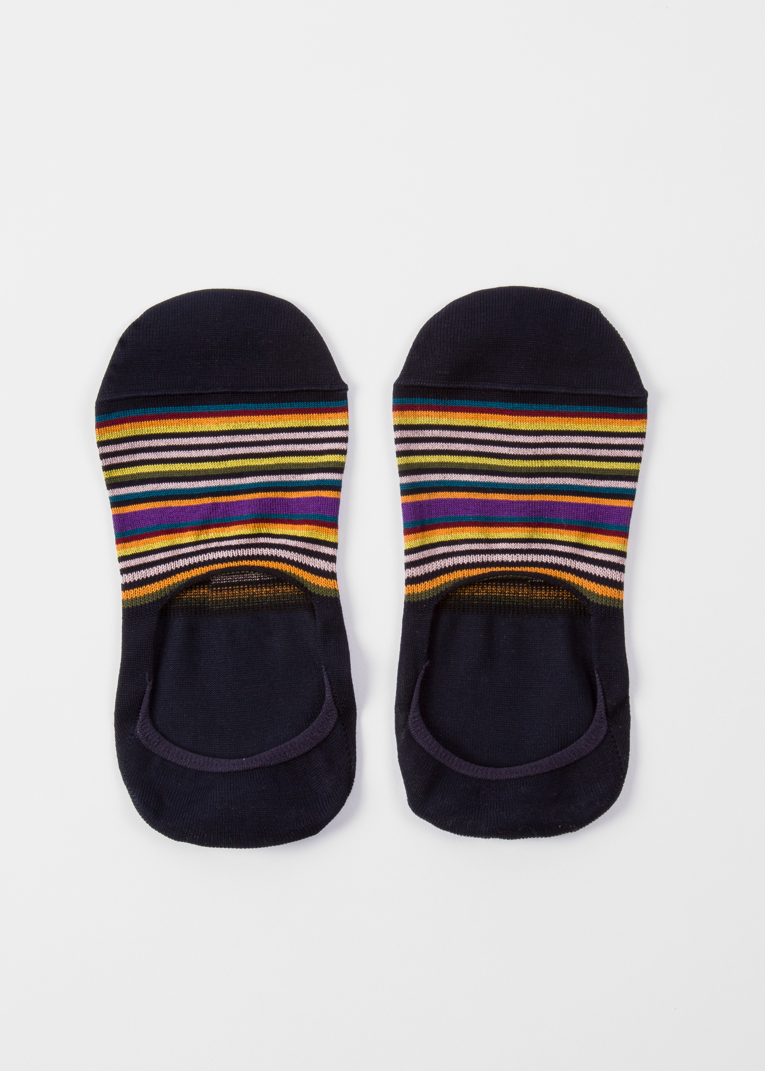 52b2667c3f4 Pair view - Women s Dark Navy Multi-Colour Striped Loafer Socks Paul Smith