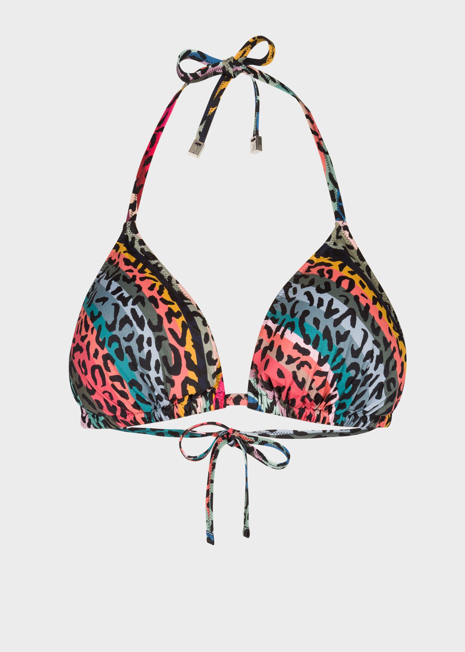 7305a124cdb Front view - Women's 'Leopard & Swirl' Print Triangle Bikini Top ...