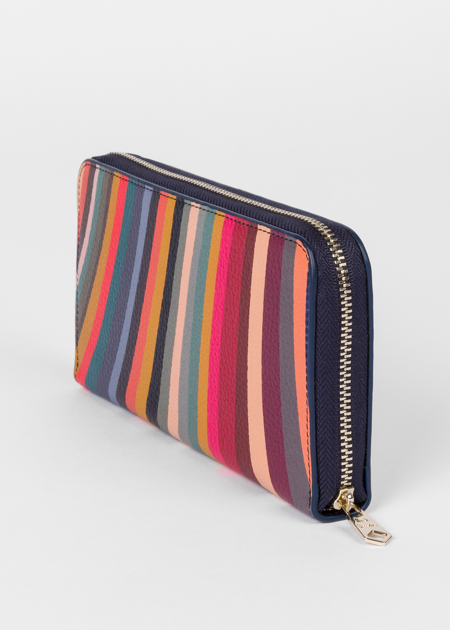 c3bb655d89ad Women's Large 'Swirl' Print Leather Zip-Around Wallet - Paul Smith US