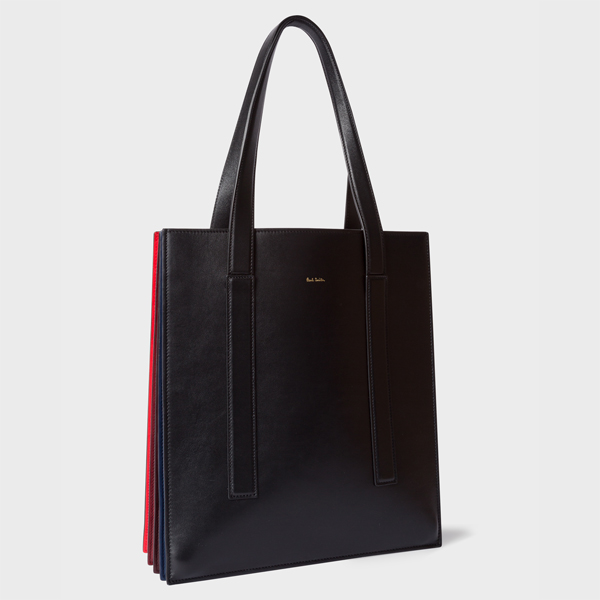 Women's Black And Red 'Concertina' Tote Bag