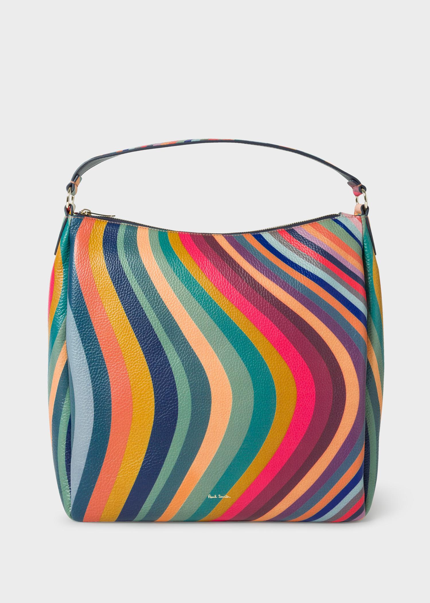 Women S Swirl Leather Hobo Bag By Paul Smith