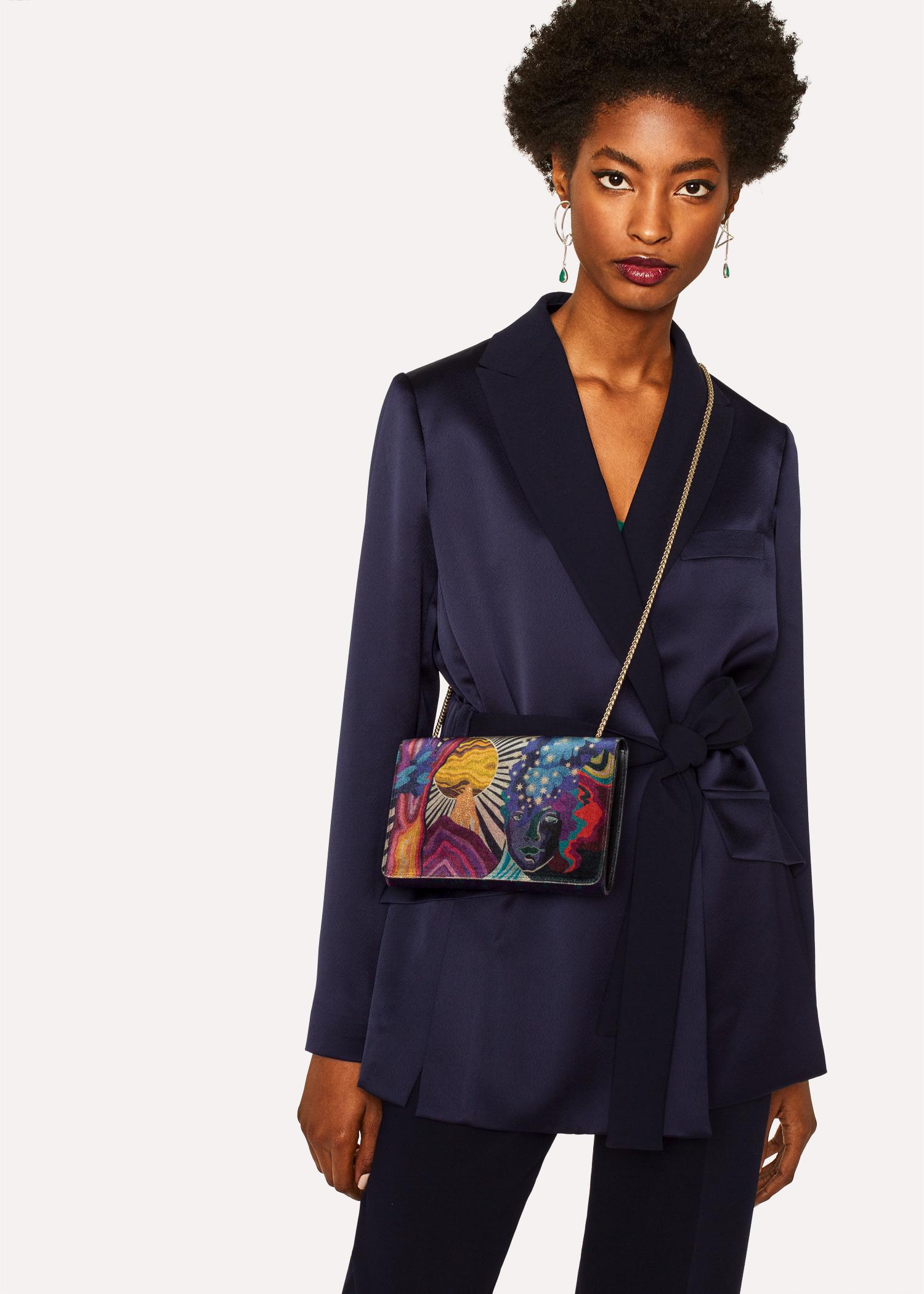 Women S Velvet Dreamer Clutch Bag Paul Smith Us