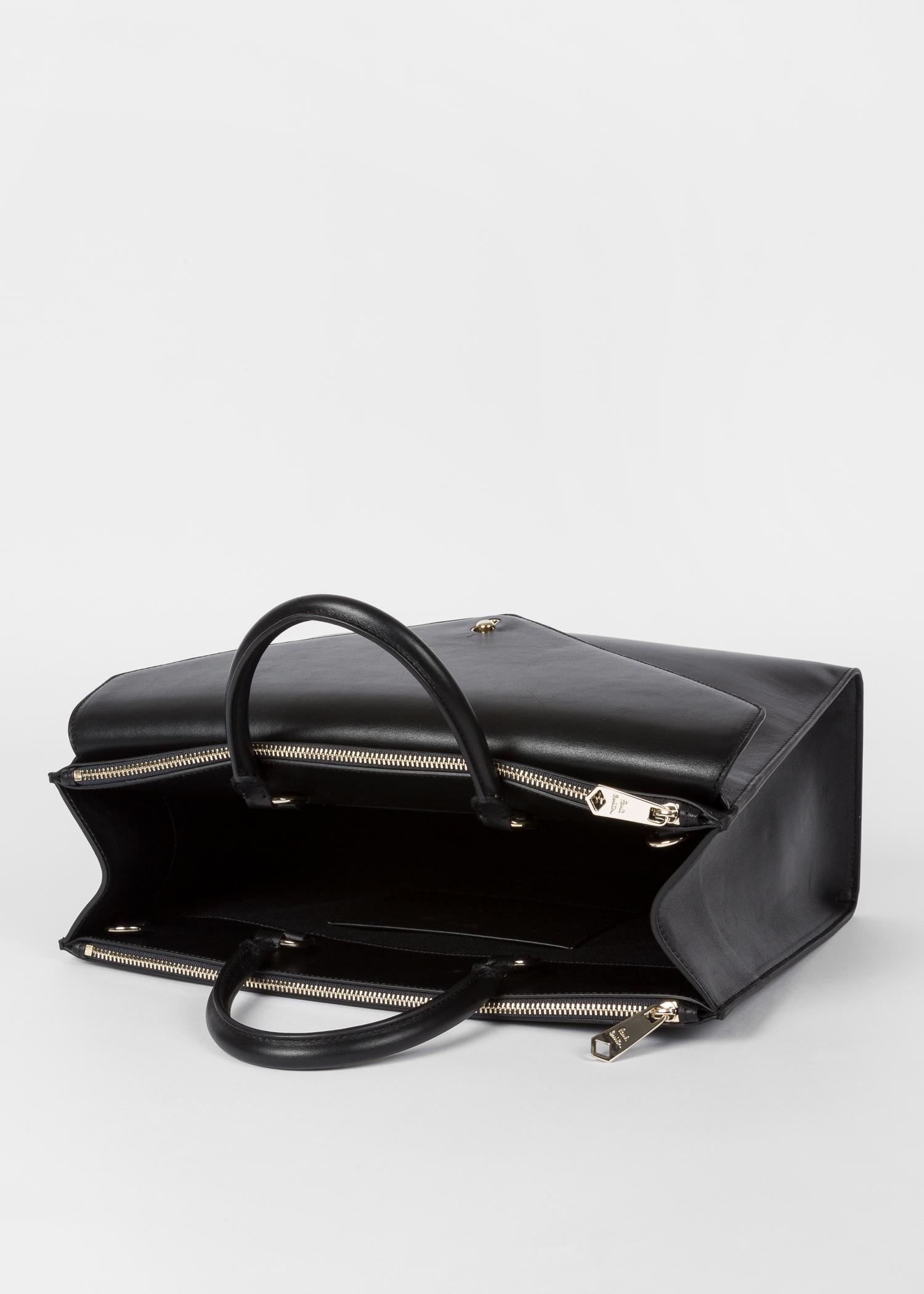 40ad34e2b8 Vue du sac ouvert - Sac Cabas Femme Noir Enveloppe En Cuir Paul Smith