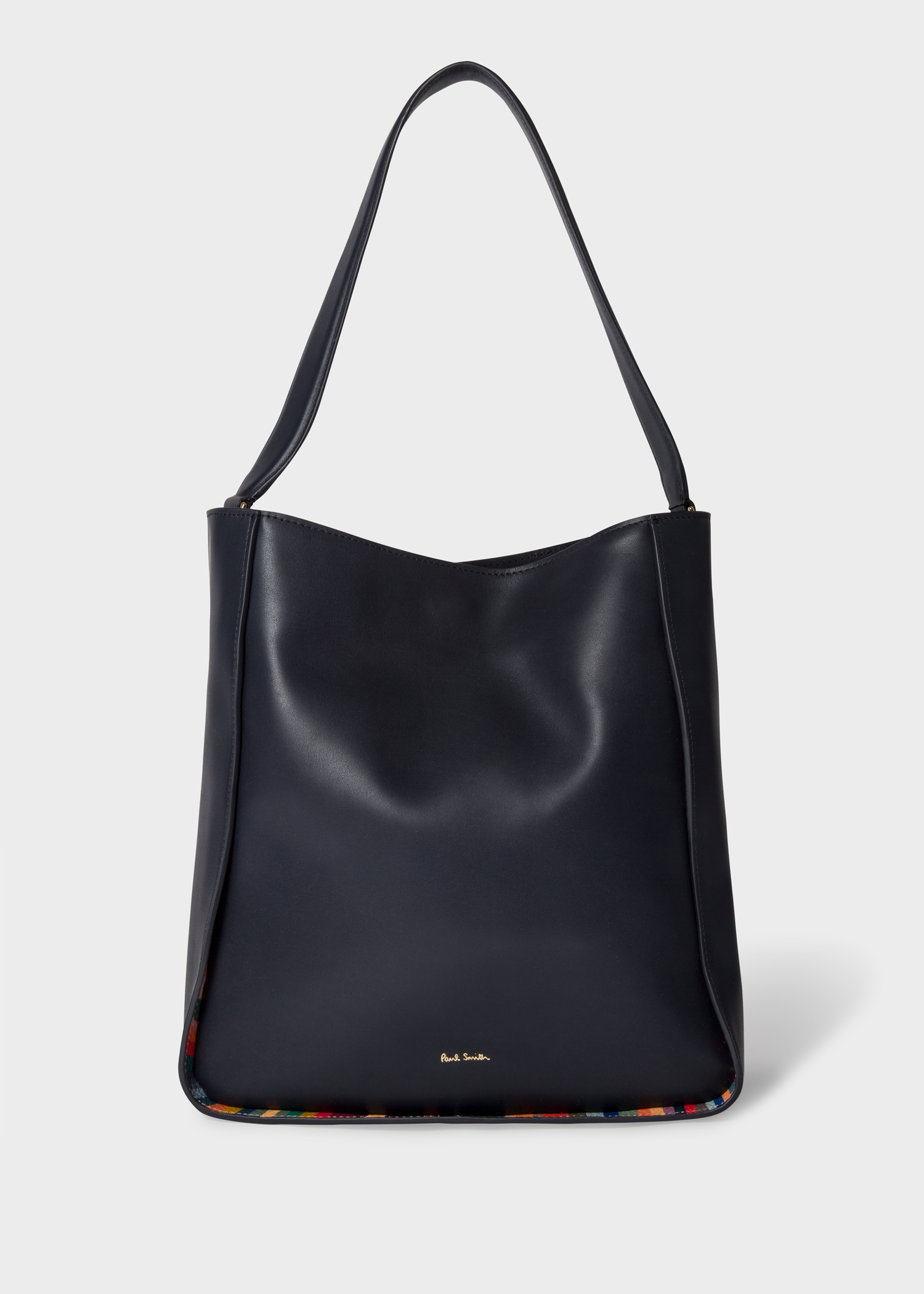 Smith Hobo Asia Navy 'swirl' Leather With Paul Bag Trims Women's Large zgqxnZ