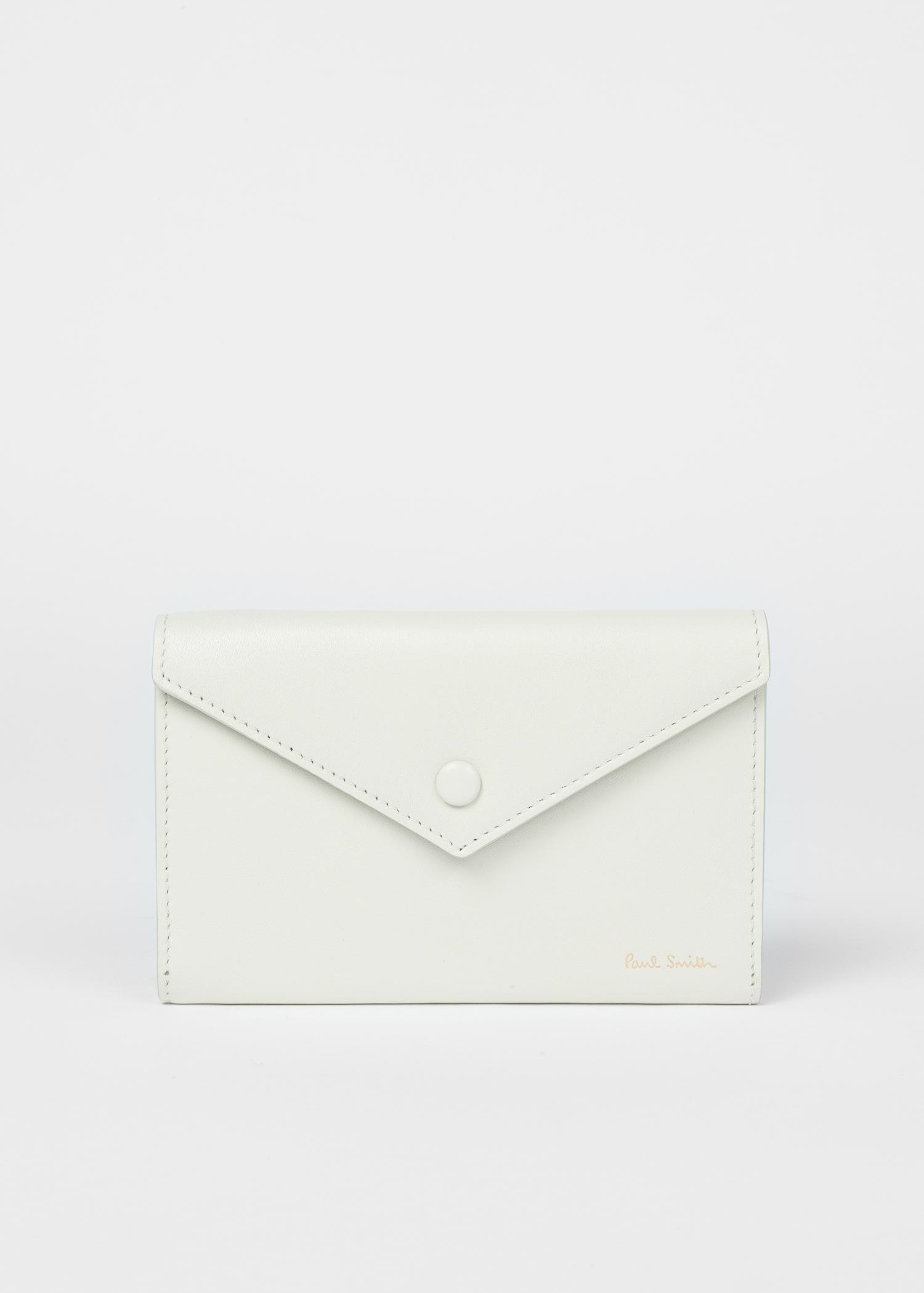 019ec19e516f Front View - Women s Off-White  Envelope  Leather Medium Purse Paul Smith