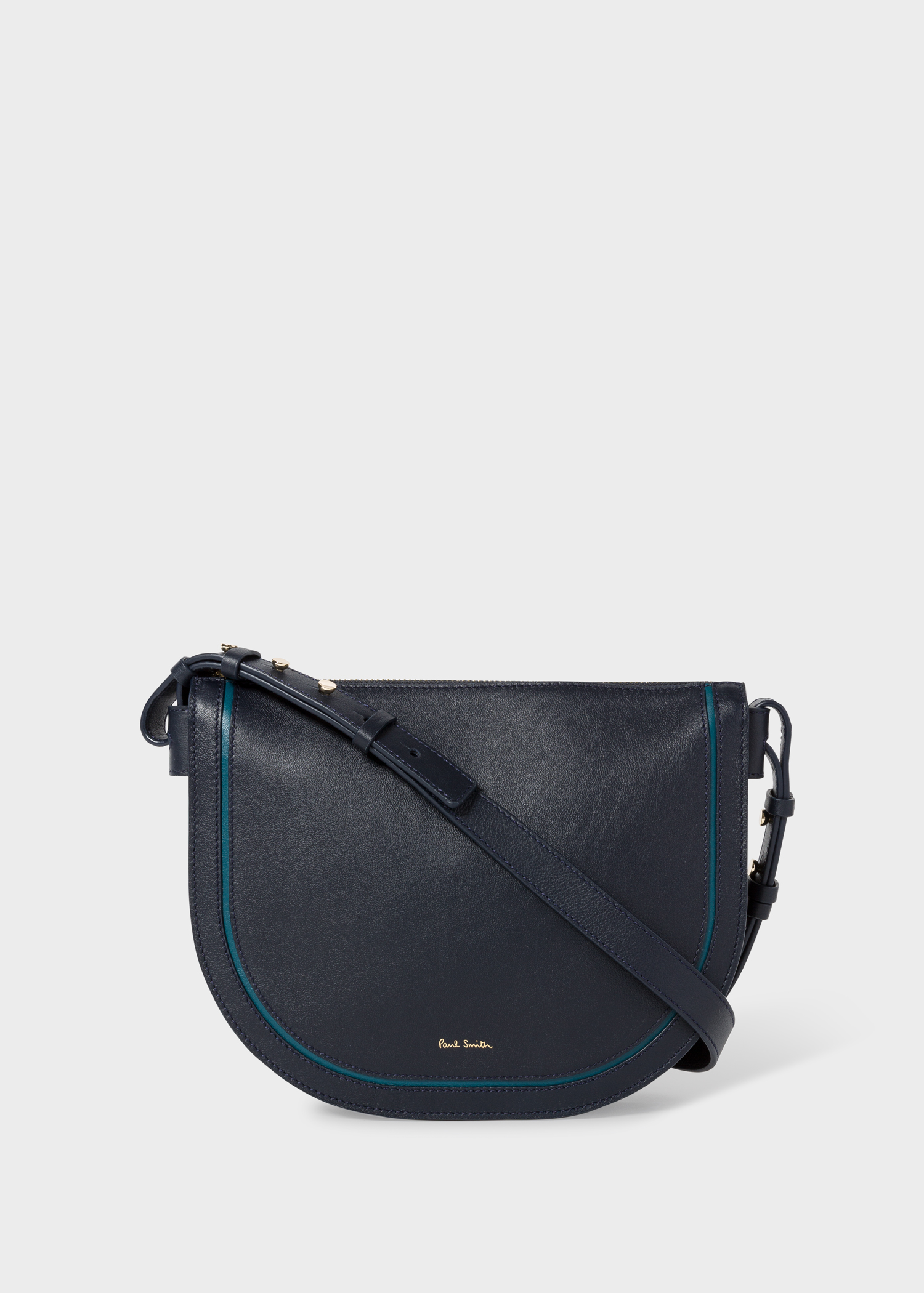 9c0946be8 Front view - Women's Navy 'Concertina' Leather Cross-Body Bag Paul Smith