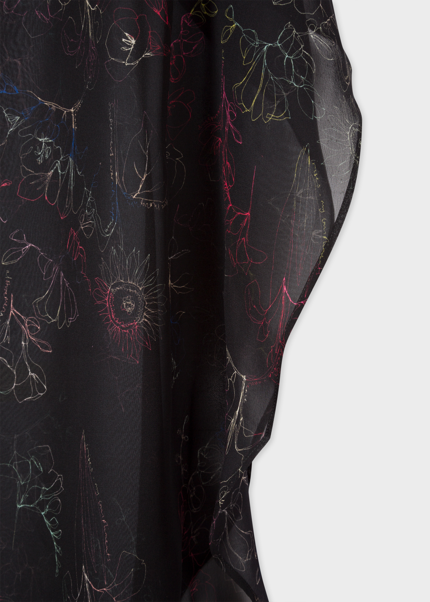 fba0a3fb0fe Print view - Women s Sheer  Swirl Floral  Print Silk Tunic ...