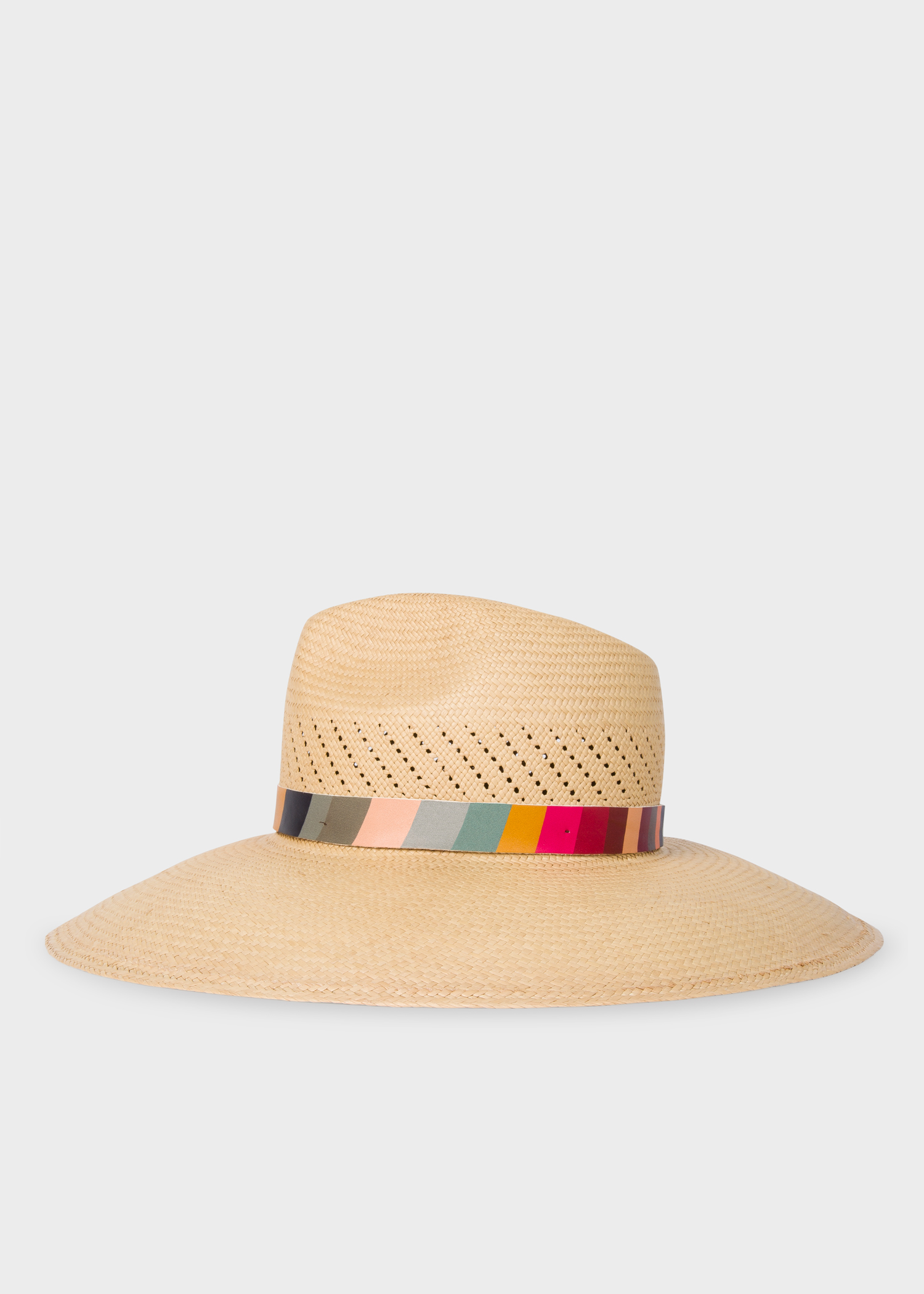 6ae860d9 Side view - Women's 'Swirl' Band Woven Panama Hat Paul Smith