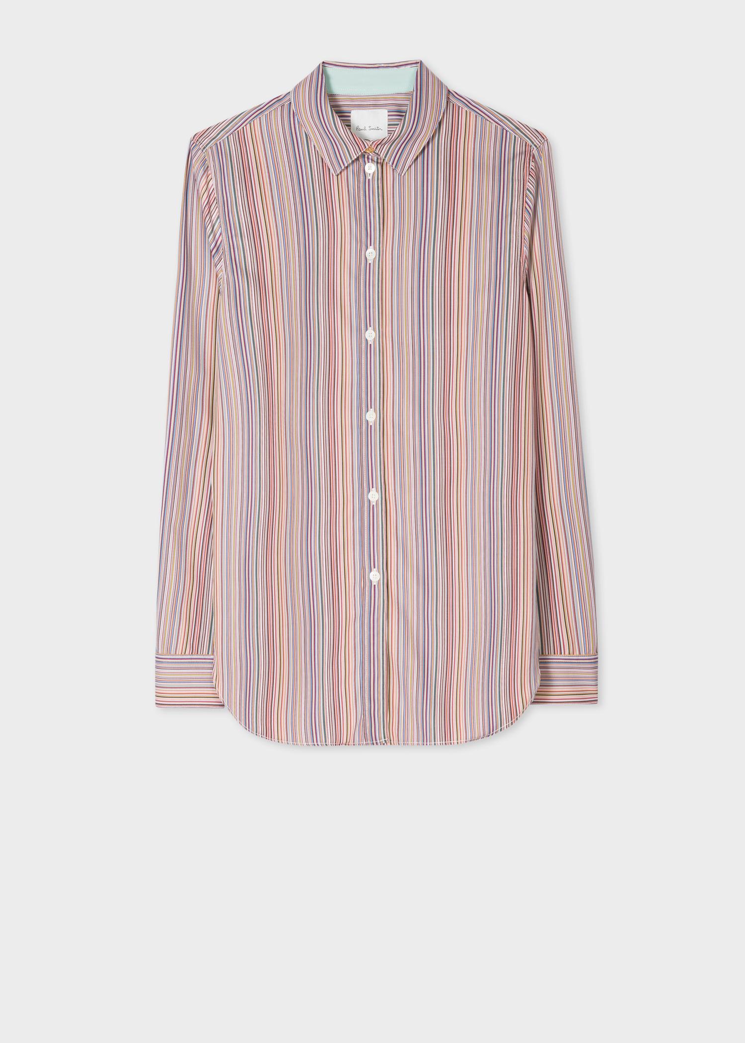 c965782afb9d3 Women's Slim-Fit 'Signature Stripe' Cotton Shirt