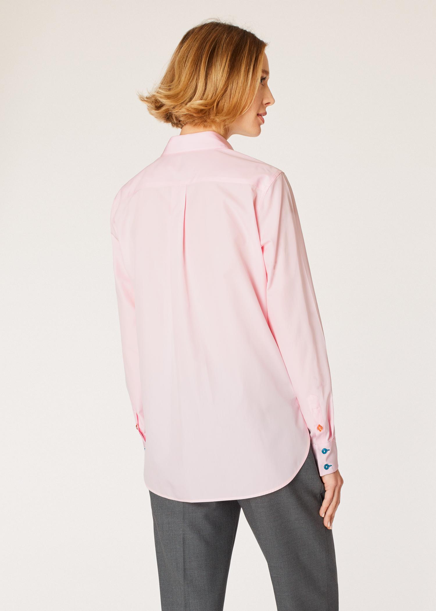2685f766db5c Chemise Femme Rose Pâle Poignets  Swirl  En Coton Coupe Slim - Paul ...
