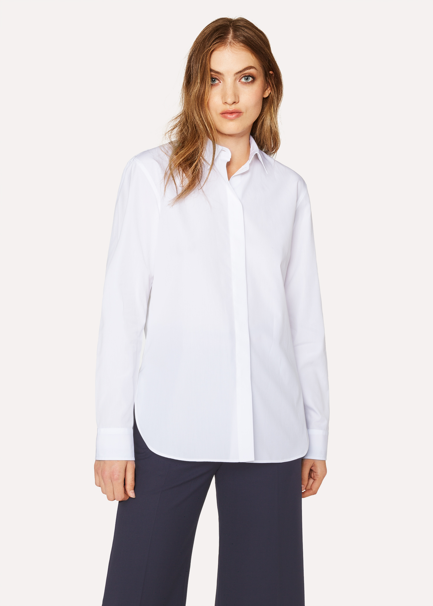 1dc7c70c Womens White Cotton Button Up Shirt – EDGE Engineering and ...