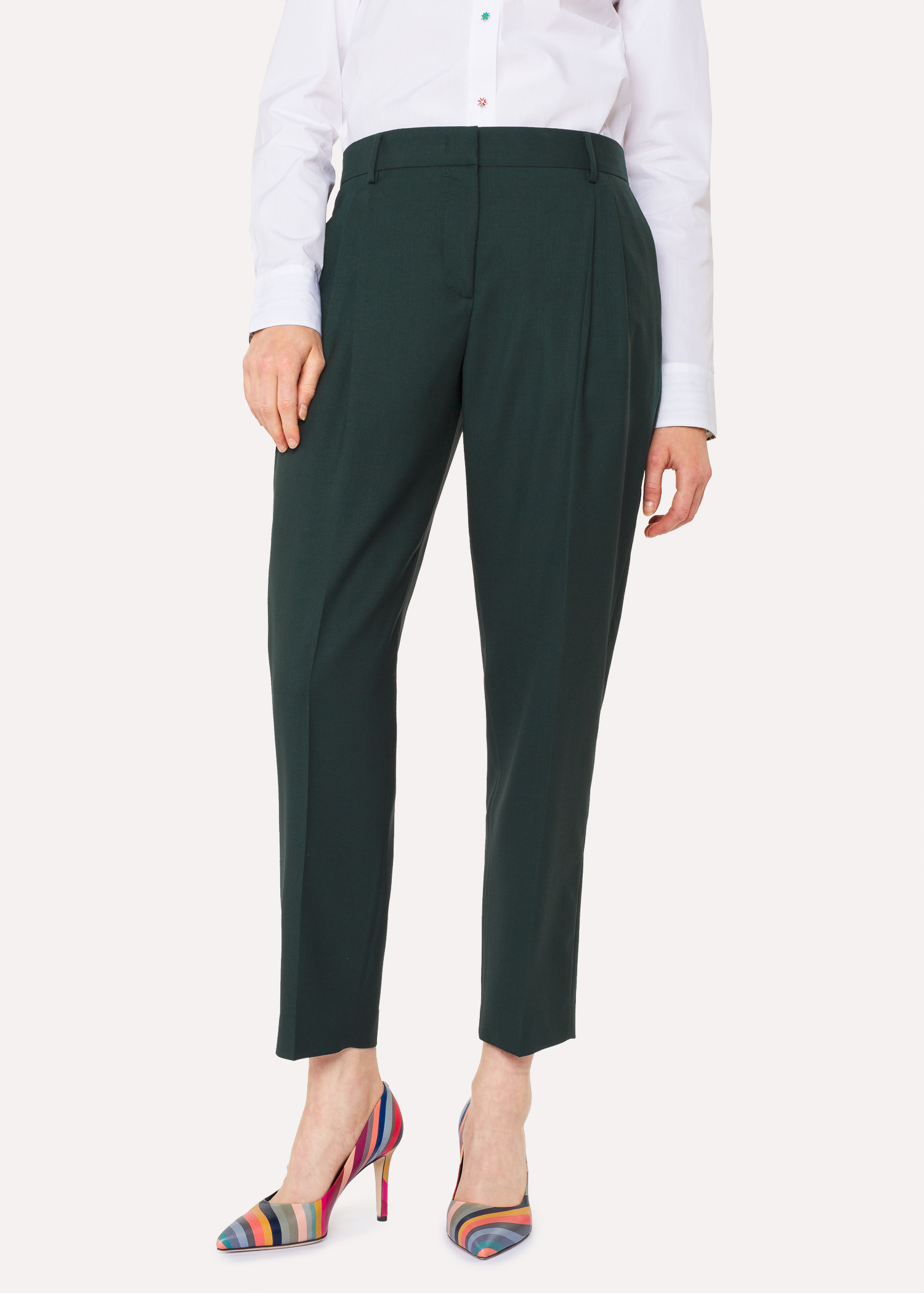 A Suit To Travel In Women S Tailored Fit Dark Green Wool Double