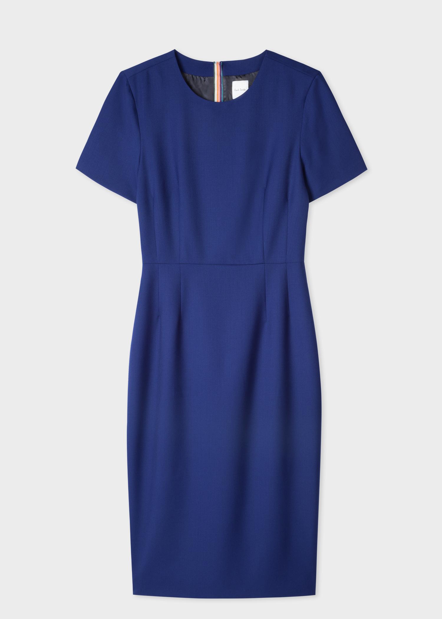 33732c7c045 Robe Femme Bleue  A Dress To Travel In  En Twill De Laine - Paul ...