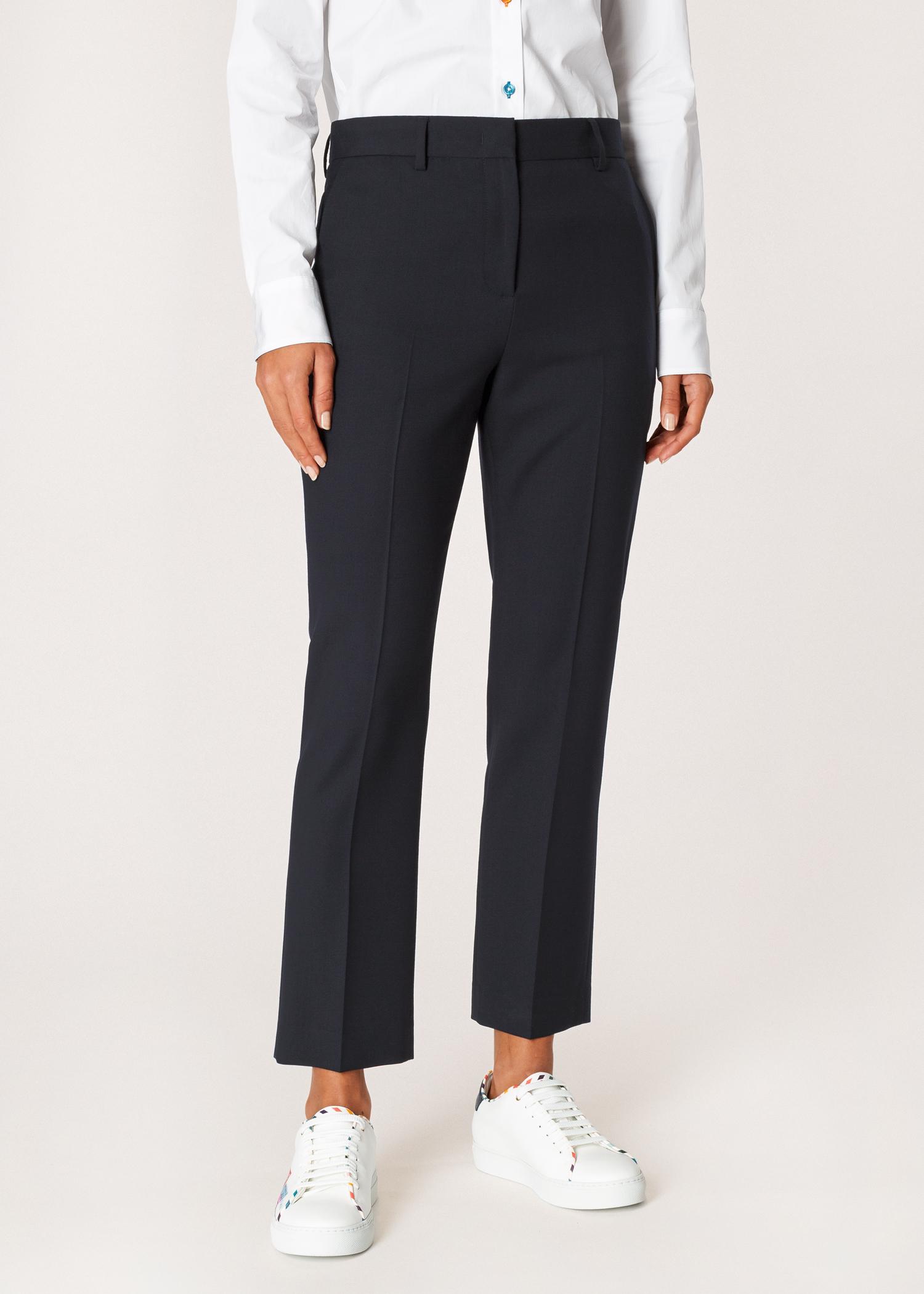 3f1f1d690b5 A Suit To Travel In - Women's Slim-Fit Navy Wool Pants - Paul Smith US