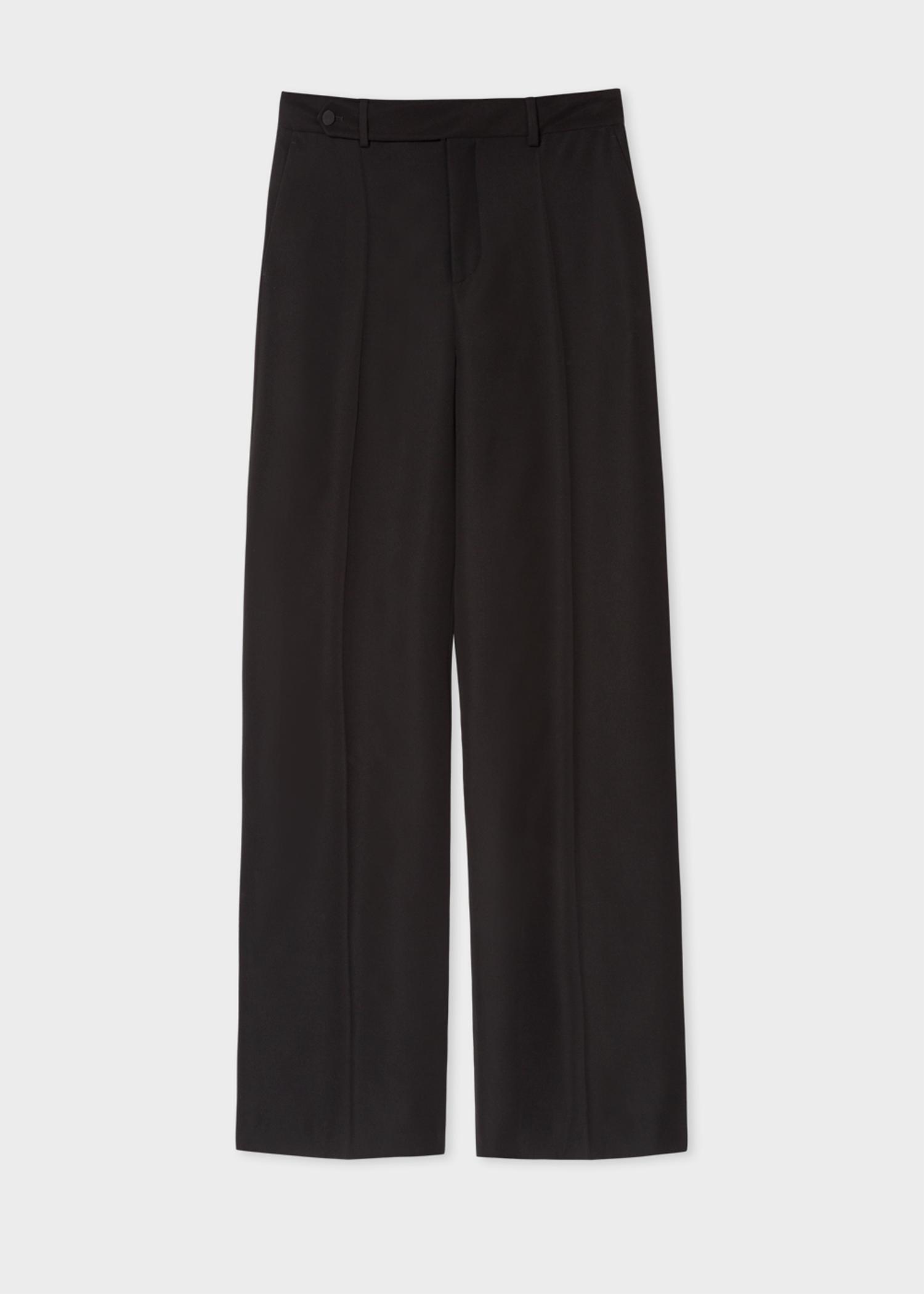 Women S Black Wide Leg Trousers Paul Smith Europe