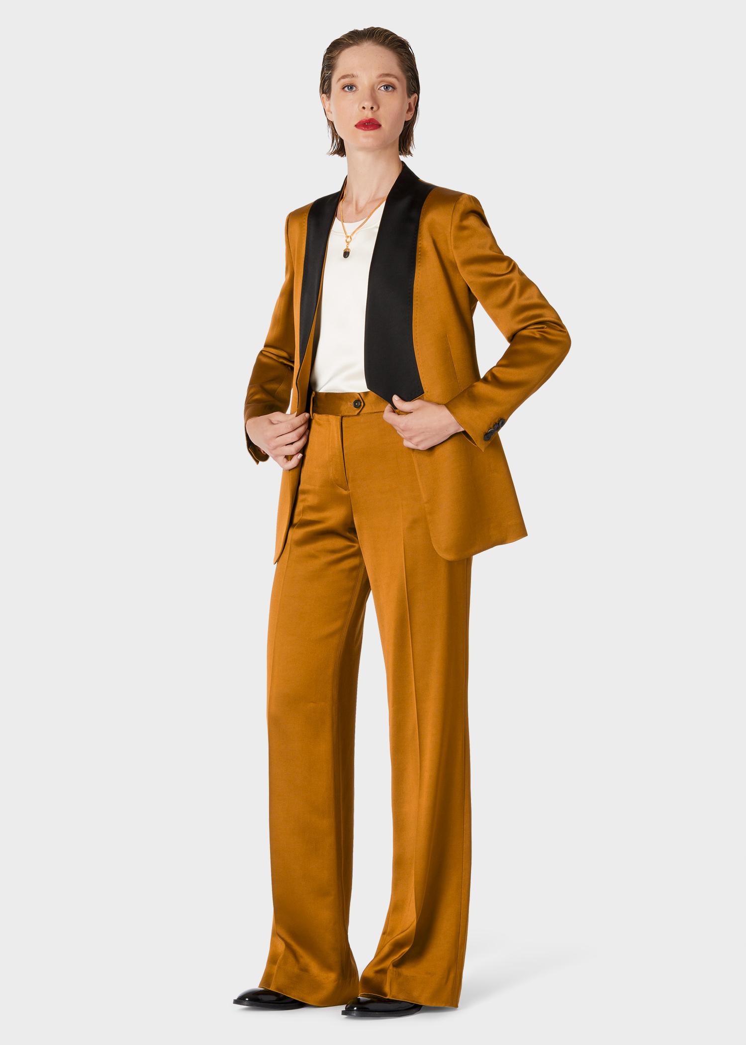 a30550867 Tailleur De Smoking Femme Bronze Col Kimono Coupe Slim