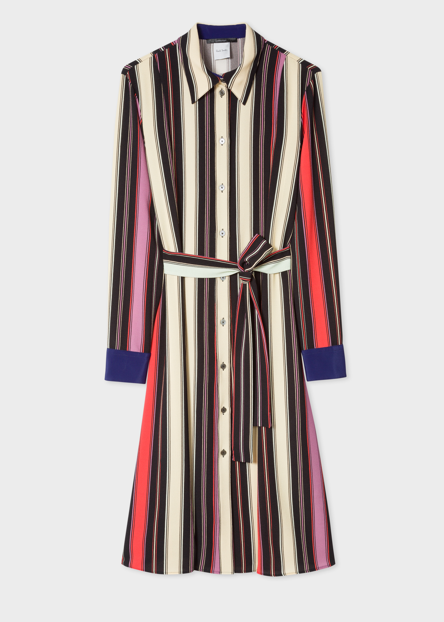 Front View - Women s Black Stripe Crepe Finish Shirt Dress Paul Smith 6fd12389f
