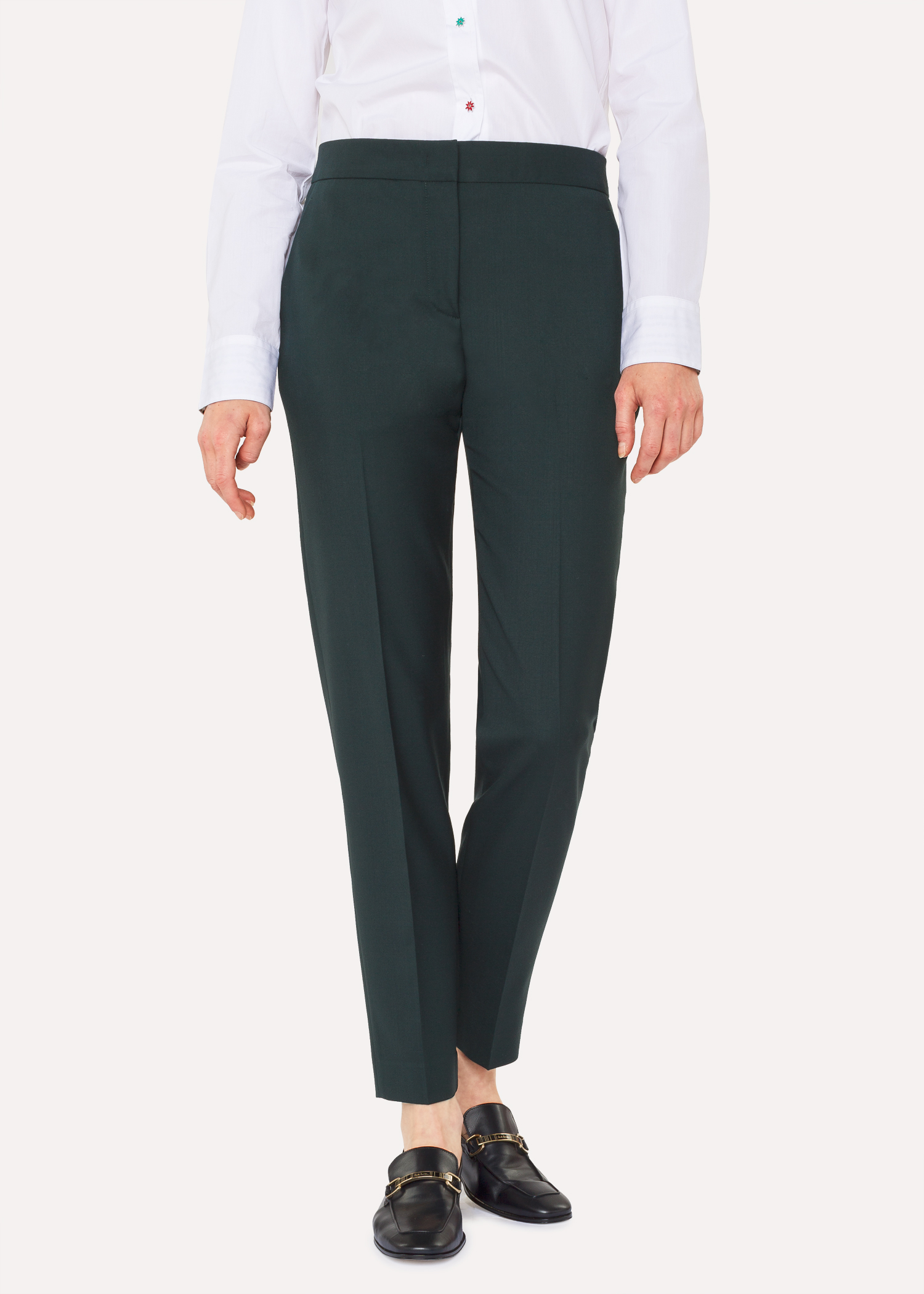 6a2ac971c113 A Suit To Travel In - Women s Classic-Fit Dark Green Wool Pants Paul Smith