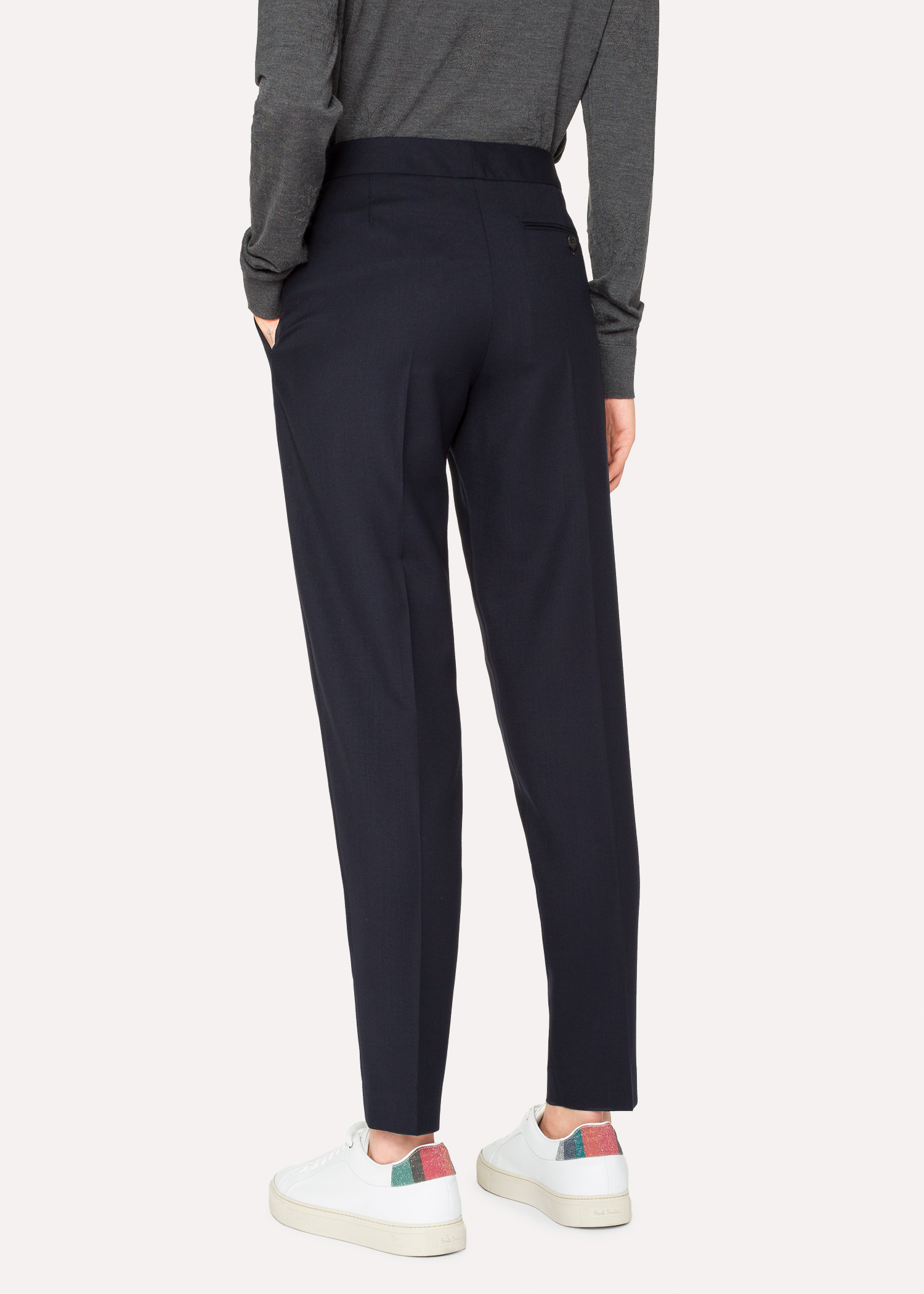 cdce1e25a2b7 A Suit To Travel In - Women s Classic-Fit Dark Navy Wool Pants ...
