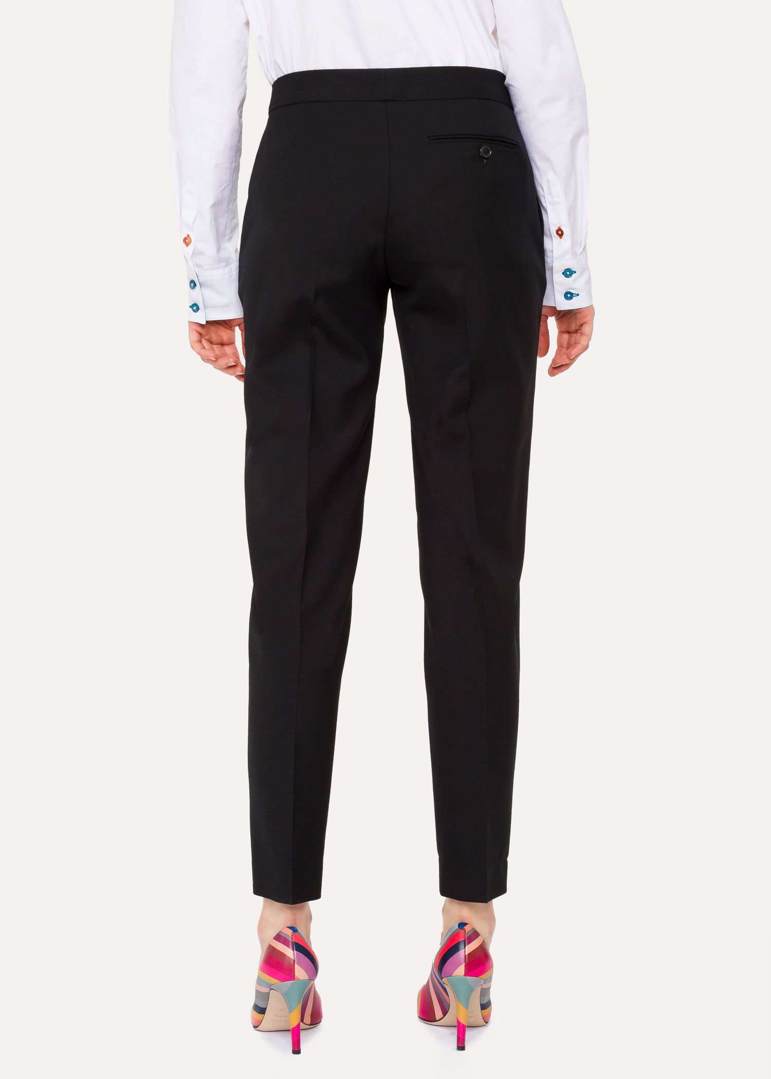 60617d37d9aa A Suit To Travel In - Women s Classic-Fit Black Wool Pants by Paul Smith
