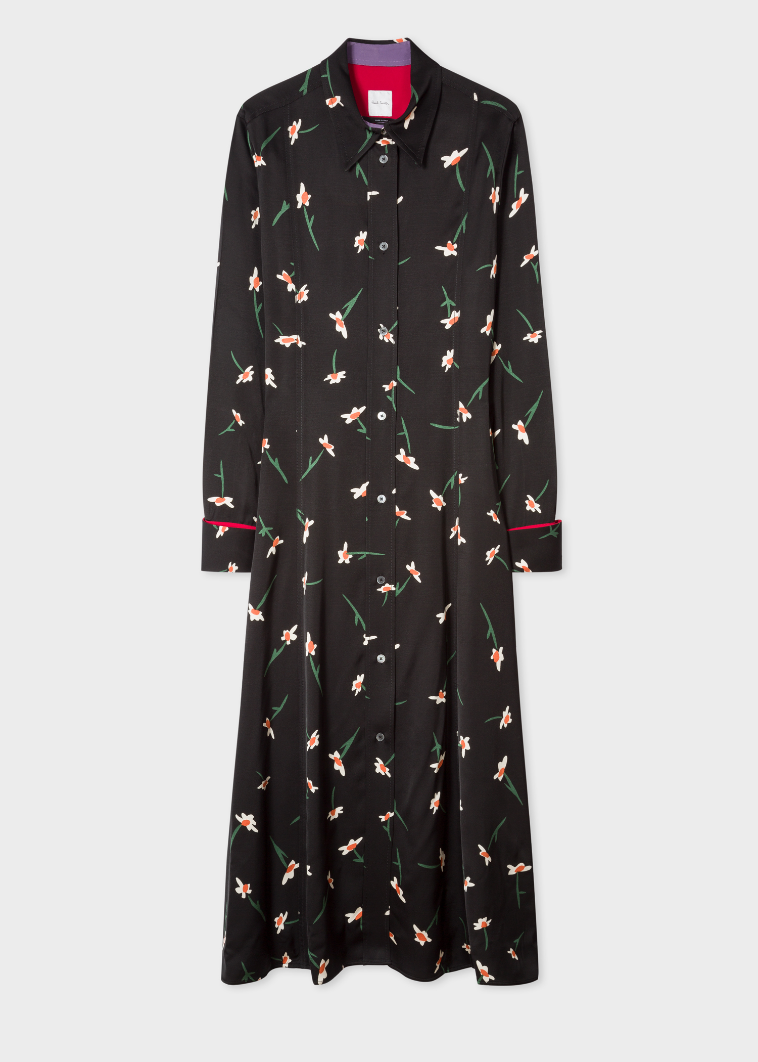 Front View - Women s Black  Painted Daisy  Shirt Dress Paul Smith fca262294