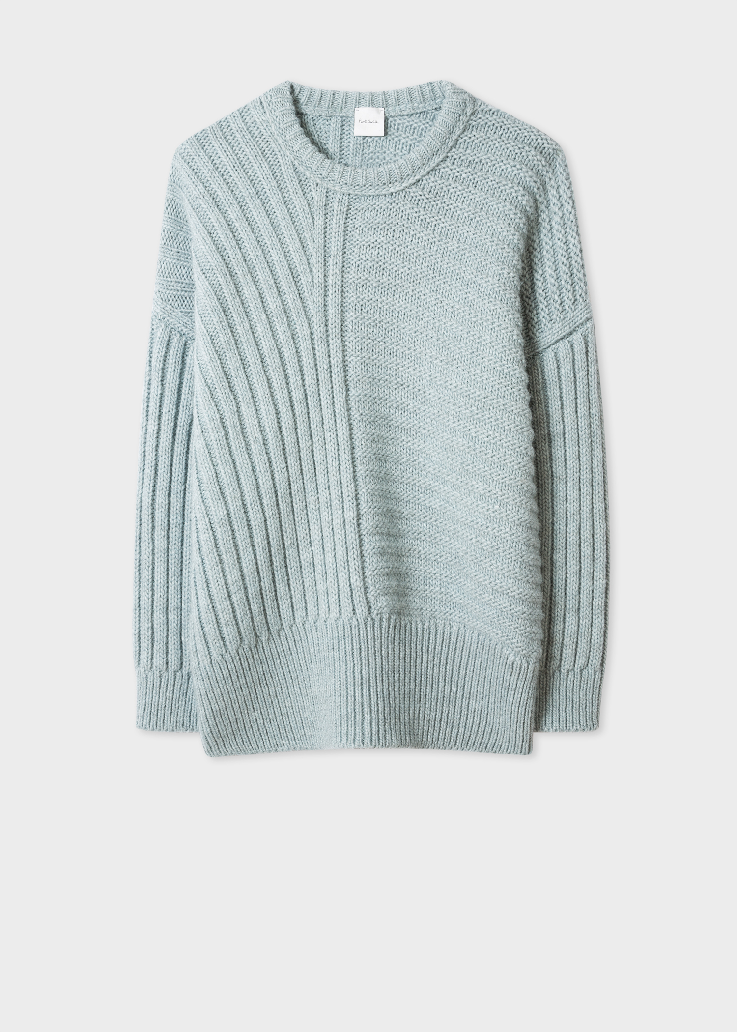 b25320fac9d11c Front view - Women's Light Blue Wool-Alpaca Blend Chunky-Knit Sweater Paul  Smith