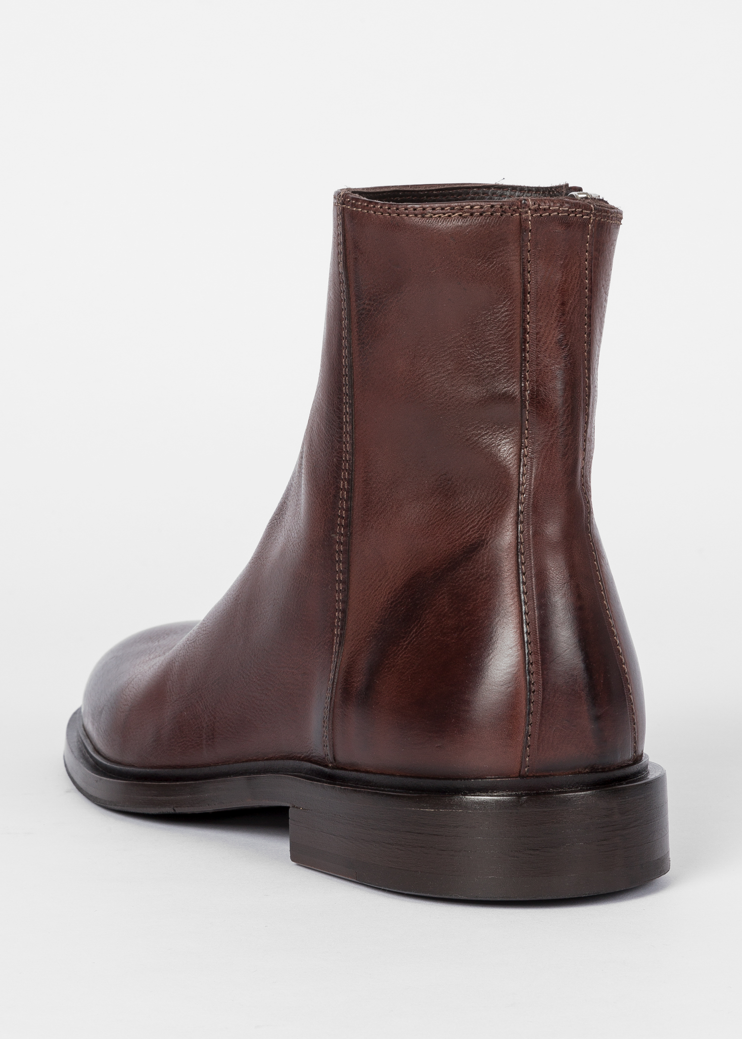 womens dark brown leather adalia ankle boots paul