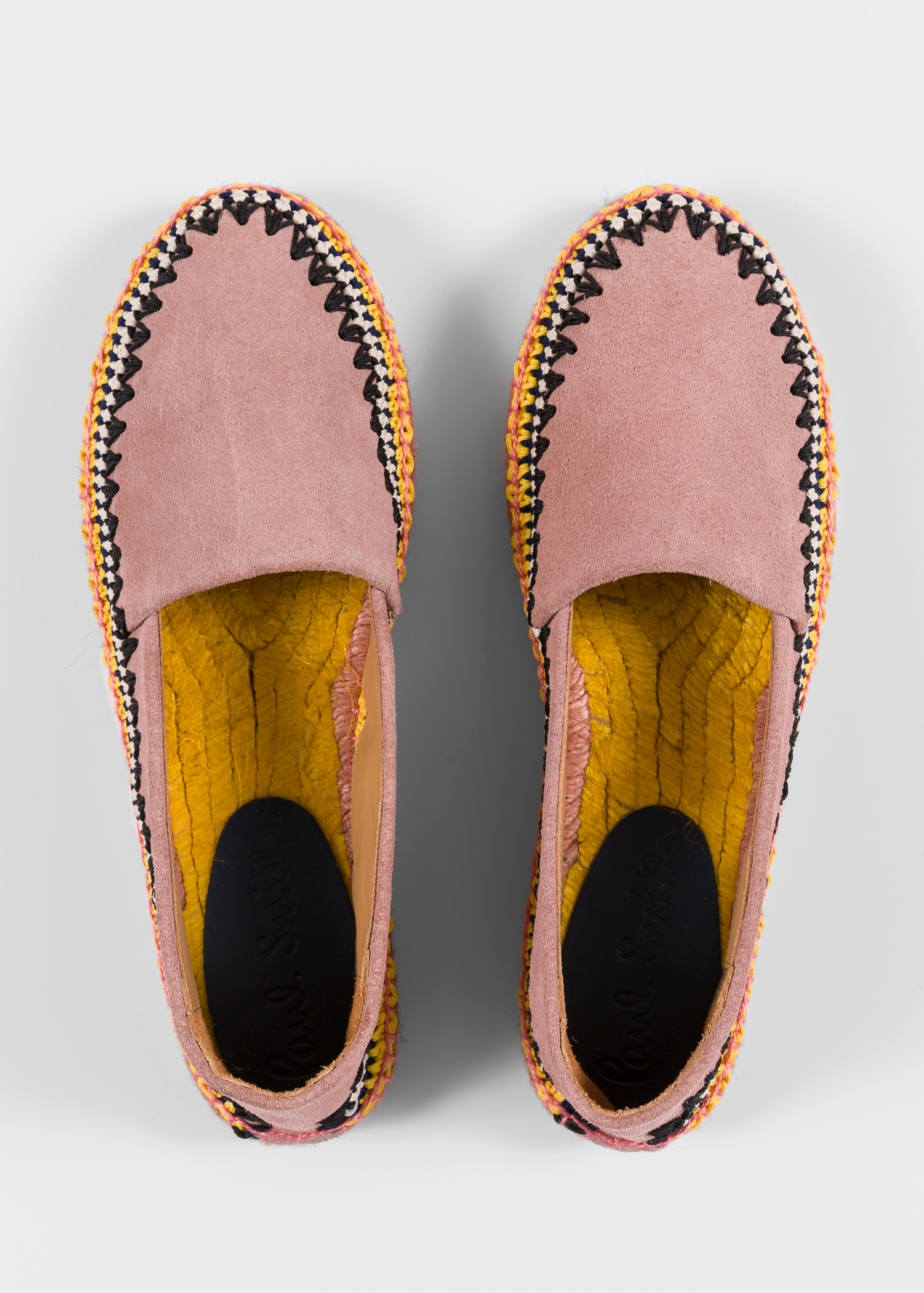 Women S Dusty Pink Suede Espadrilles Paul Smith