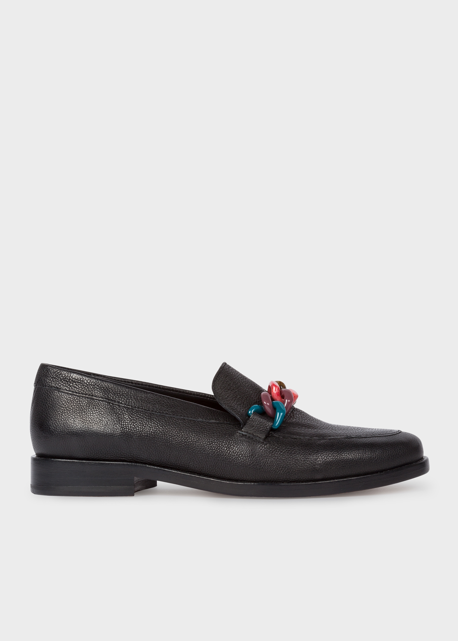 bae94f18b35d Side View - Women s Black Calf Leather  Cora  Loafers Paul Smith