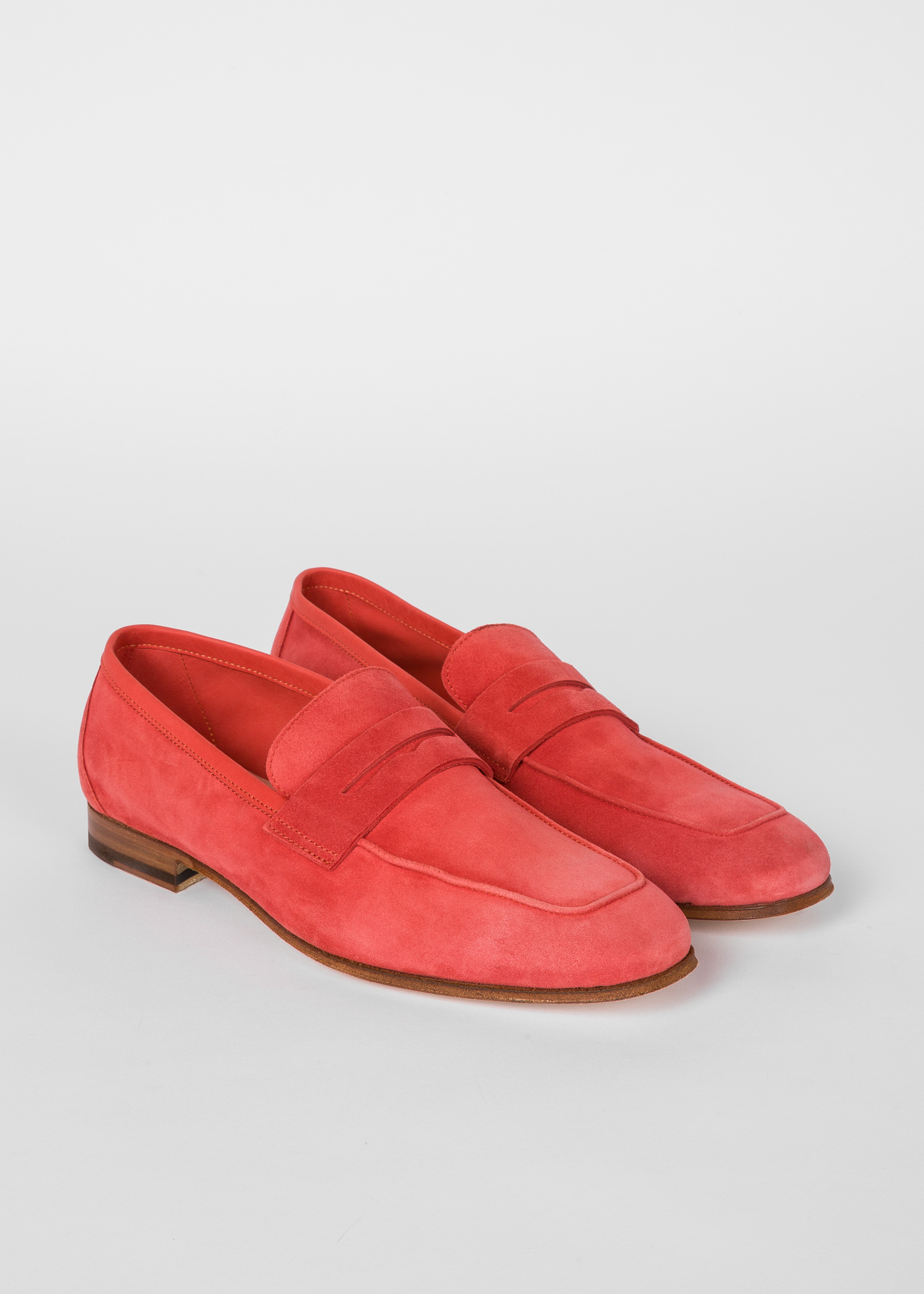 e3bd7587e67 Angled side view - Women s Coral Suede Leather  Glynn  Penny Loafers ...