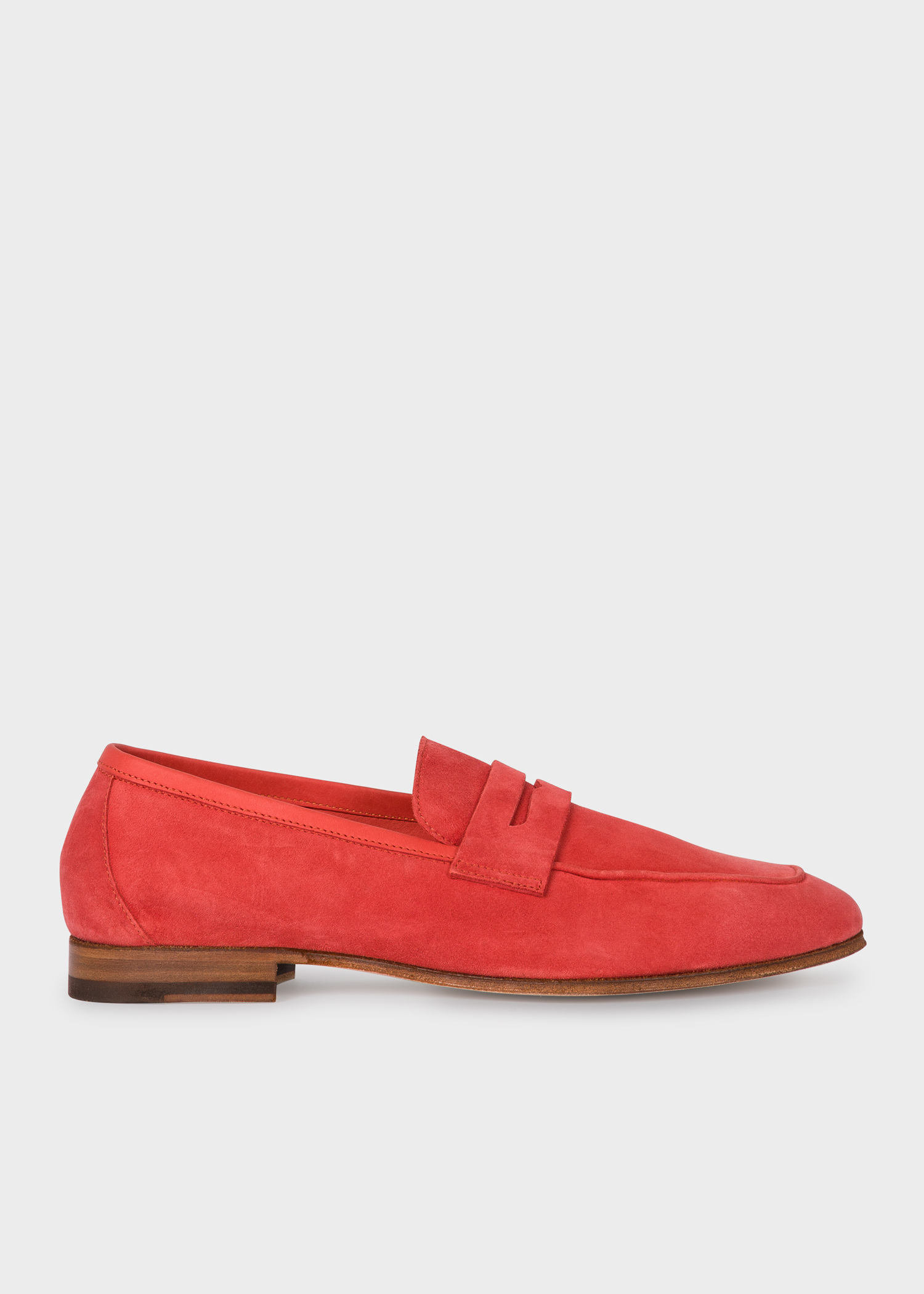 b1fd23976baa Side view - Women's Coral Suede Leather 'Glynn' Penny Loafers ...