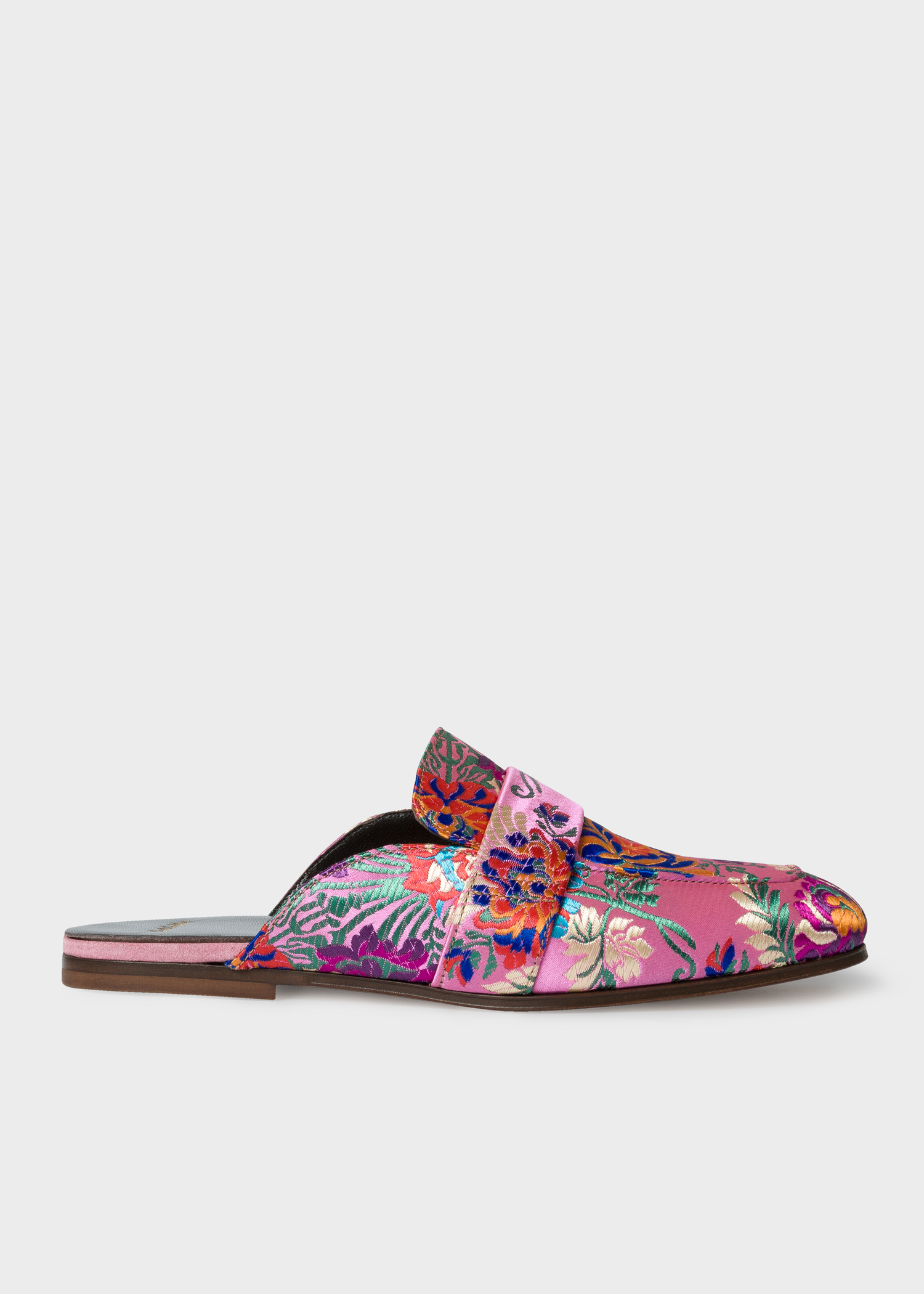 fff8623d531e4 Side view - Women's Pink Floral Jacquard 'Joni' Mules Paul Smith