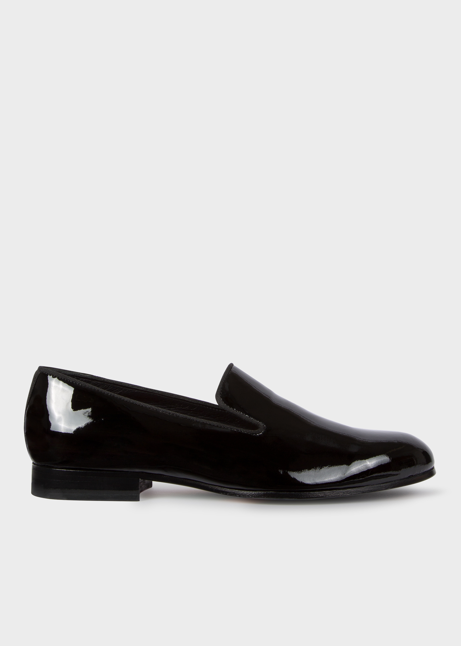 Side view - Women s Black Patent Leather  Rudyard  Loafers Paul Smith