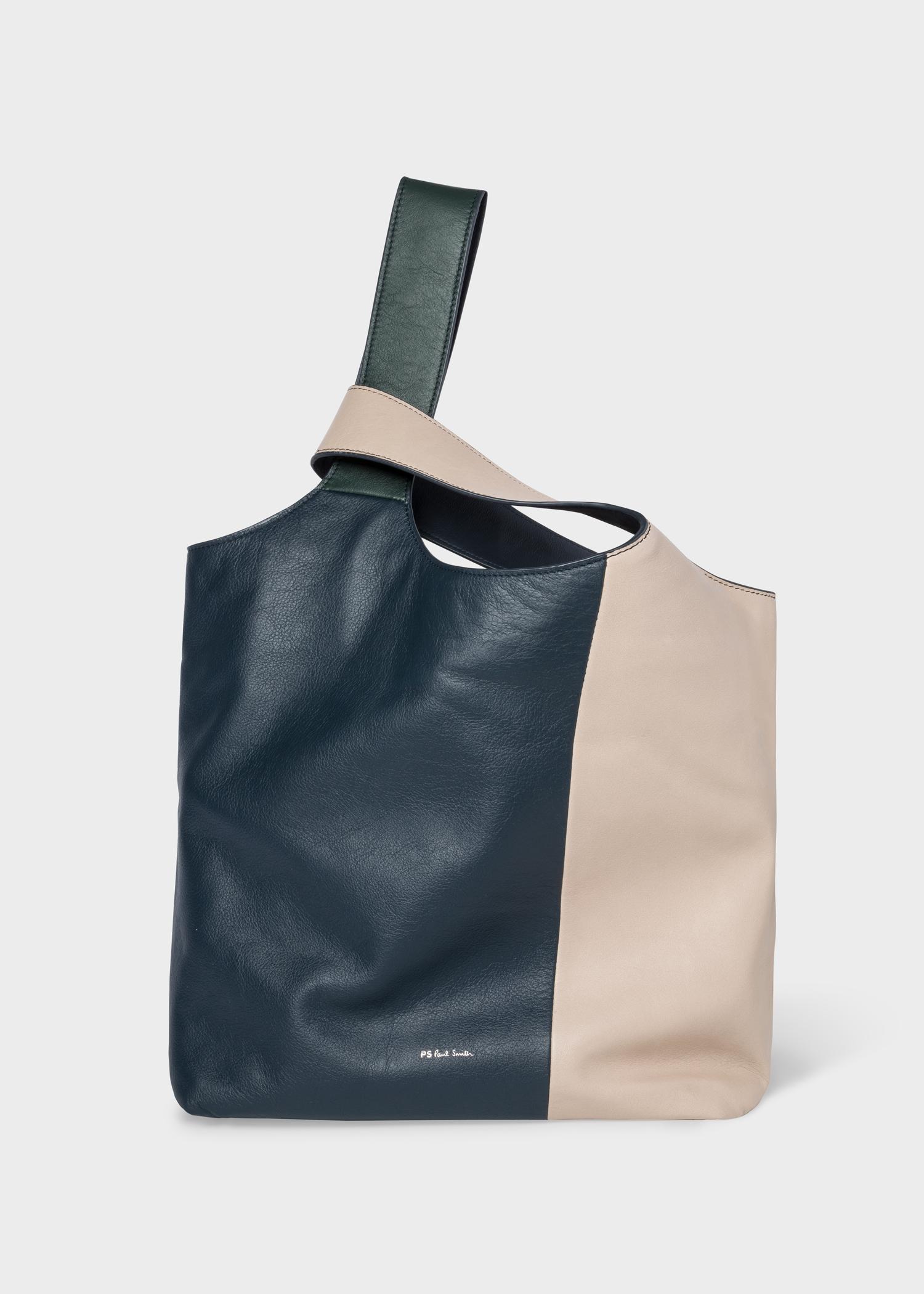 Front view - Women s Ecru Colour Block Leather Tote Bag Paul Smith 1919664632b6e