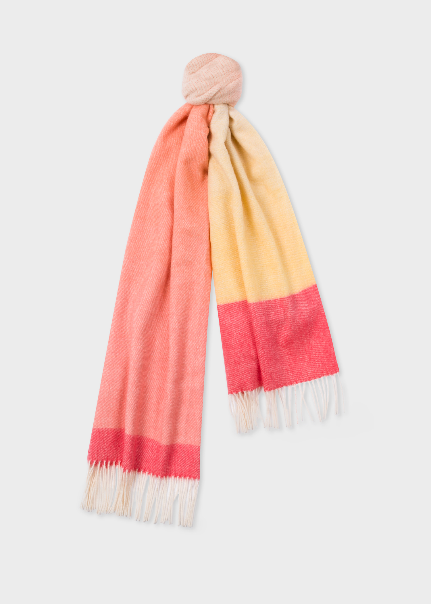 a4d41fef7 Folded View - Women's Pink And Yellow Ombré Lambswool And Cashmere Scarf  Paul Smith