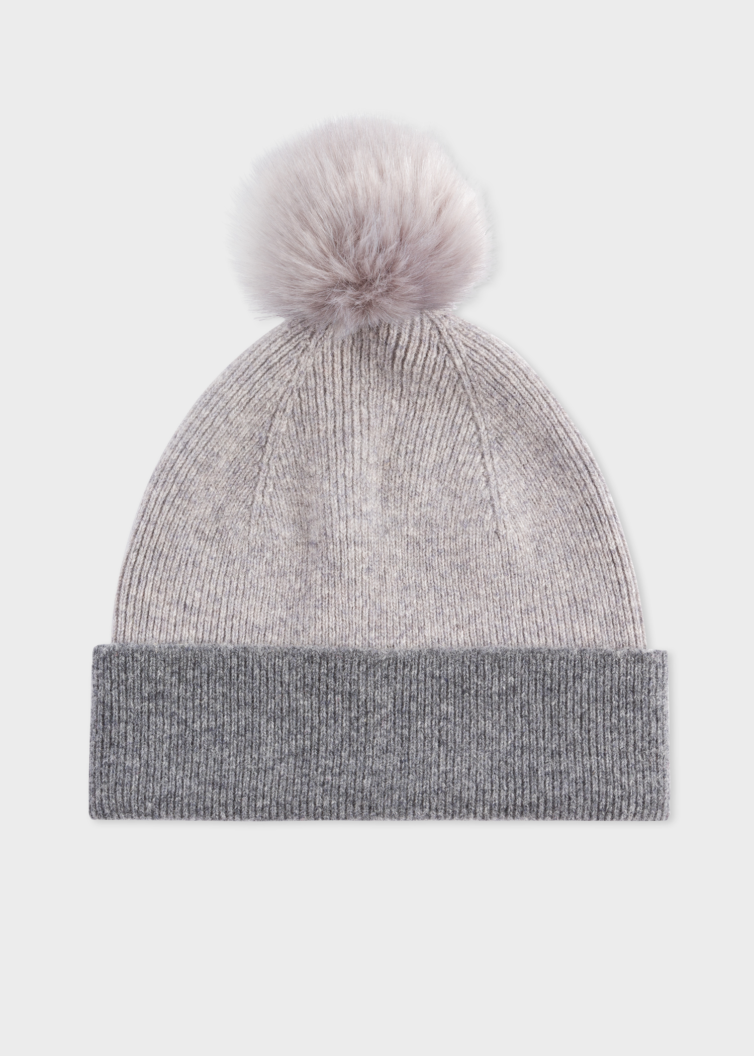 95561b80 Women's Light Grey Pom-Pom Wool Beanie Hat - Paul Smith Asia
