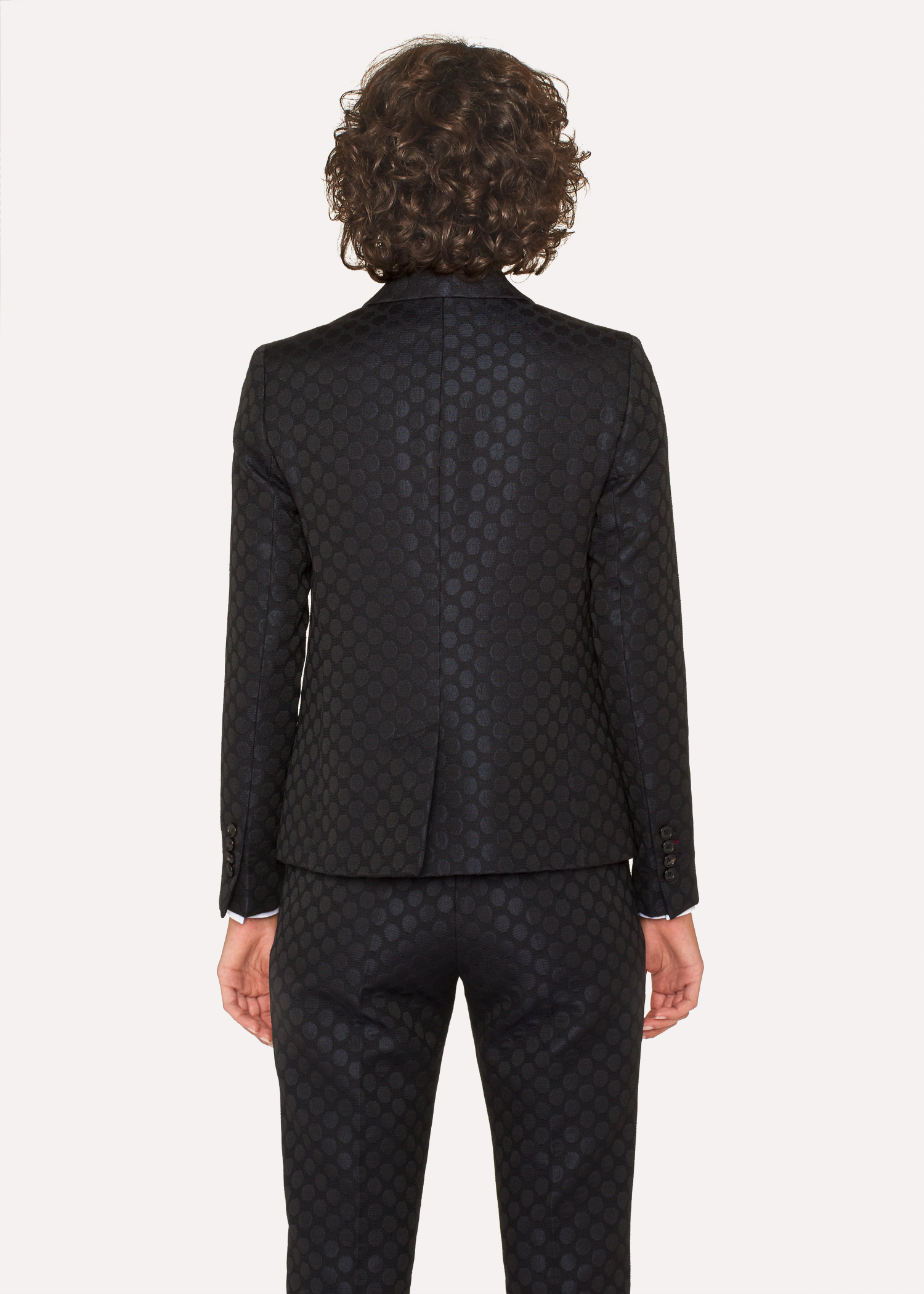 Women S Black Polka Dot Jacquard Double Breasted Suit Paul Smith Us