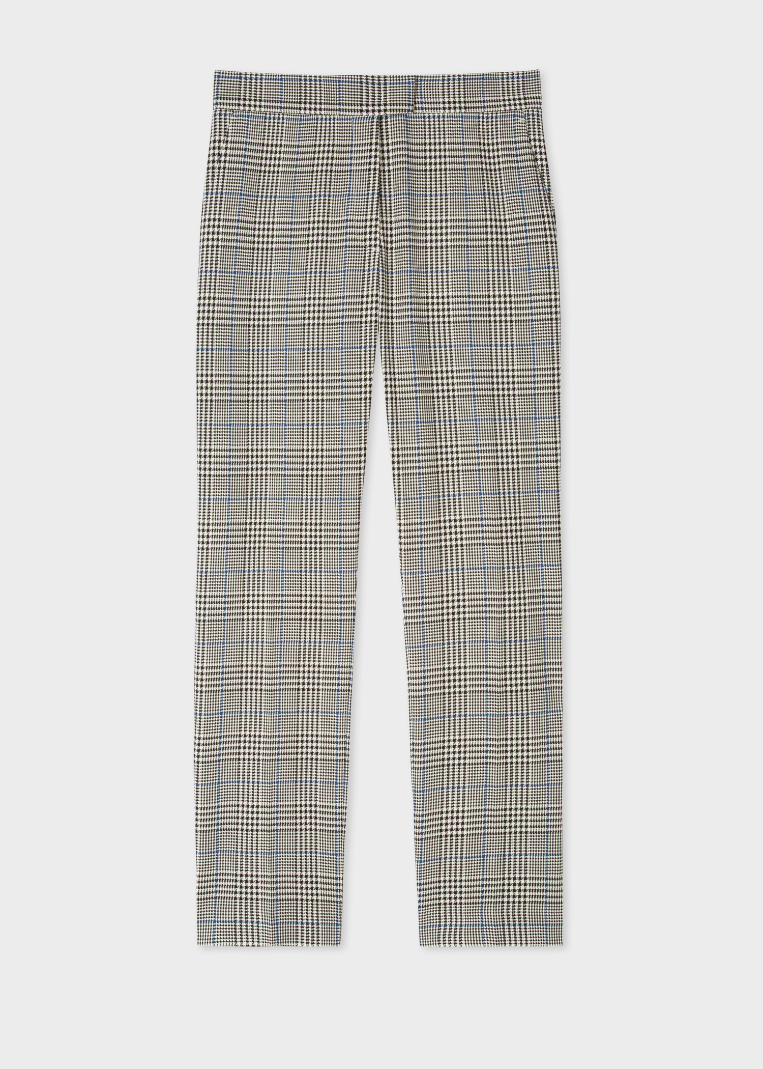 Women S Slim Fit Black And White Check Cotton Pants Paul Smith Us