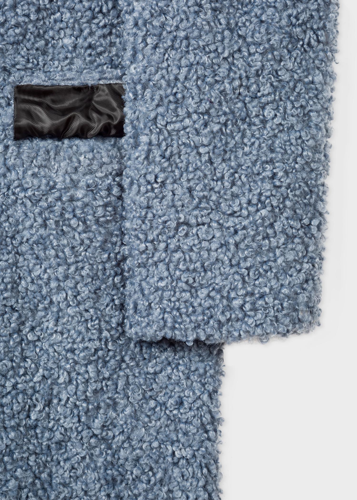 73aa89281678 Women s Slate Blue Bouclé Cocoon Coat - Paul Smith Australia