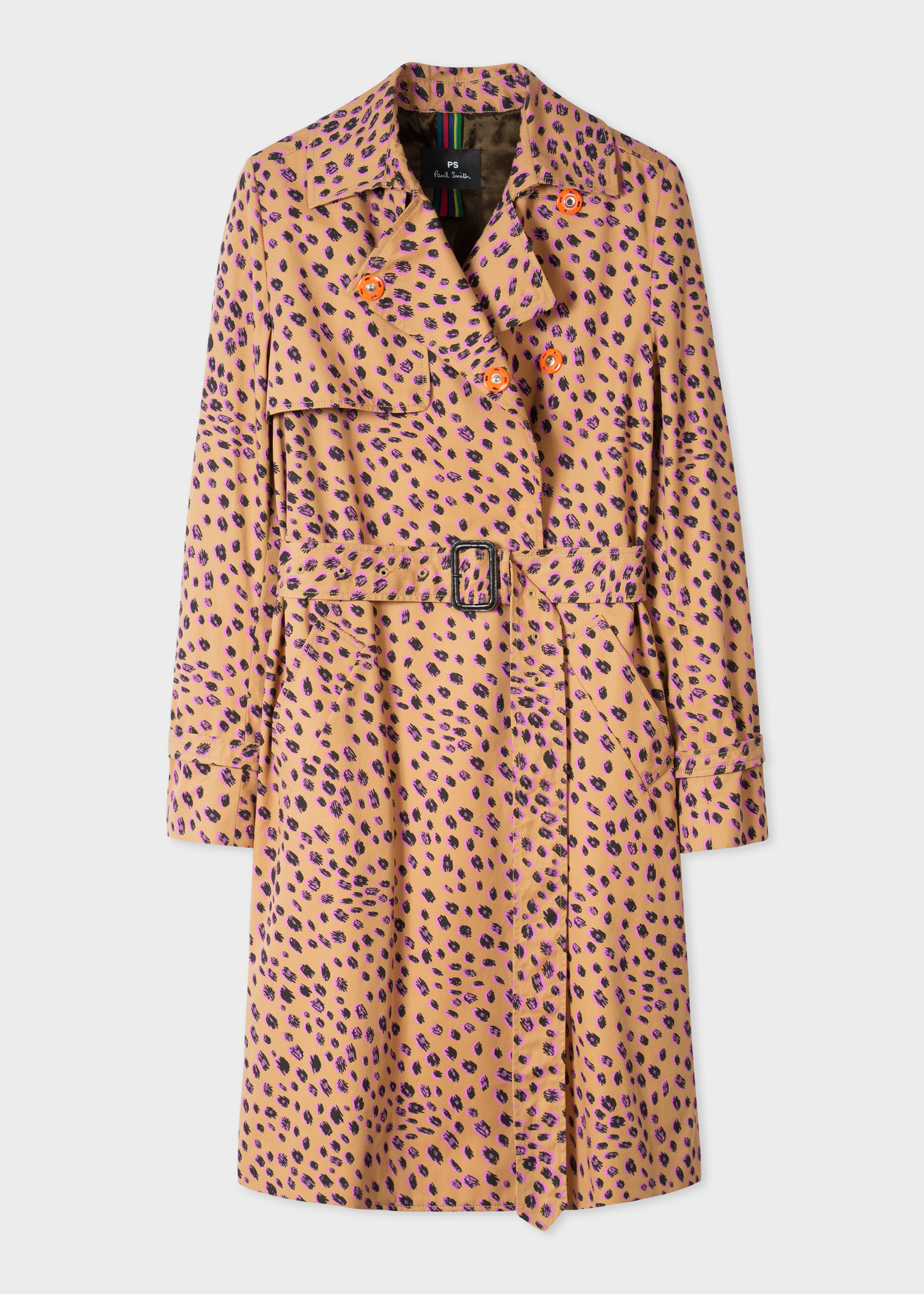 69b631f46 Front view - Women s Tan  Cheetah  Print Cotton Mac Paul Smith