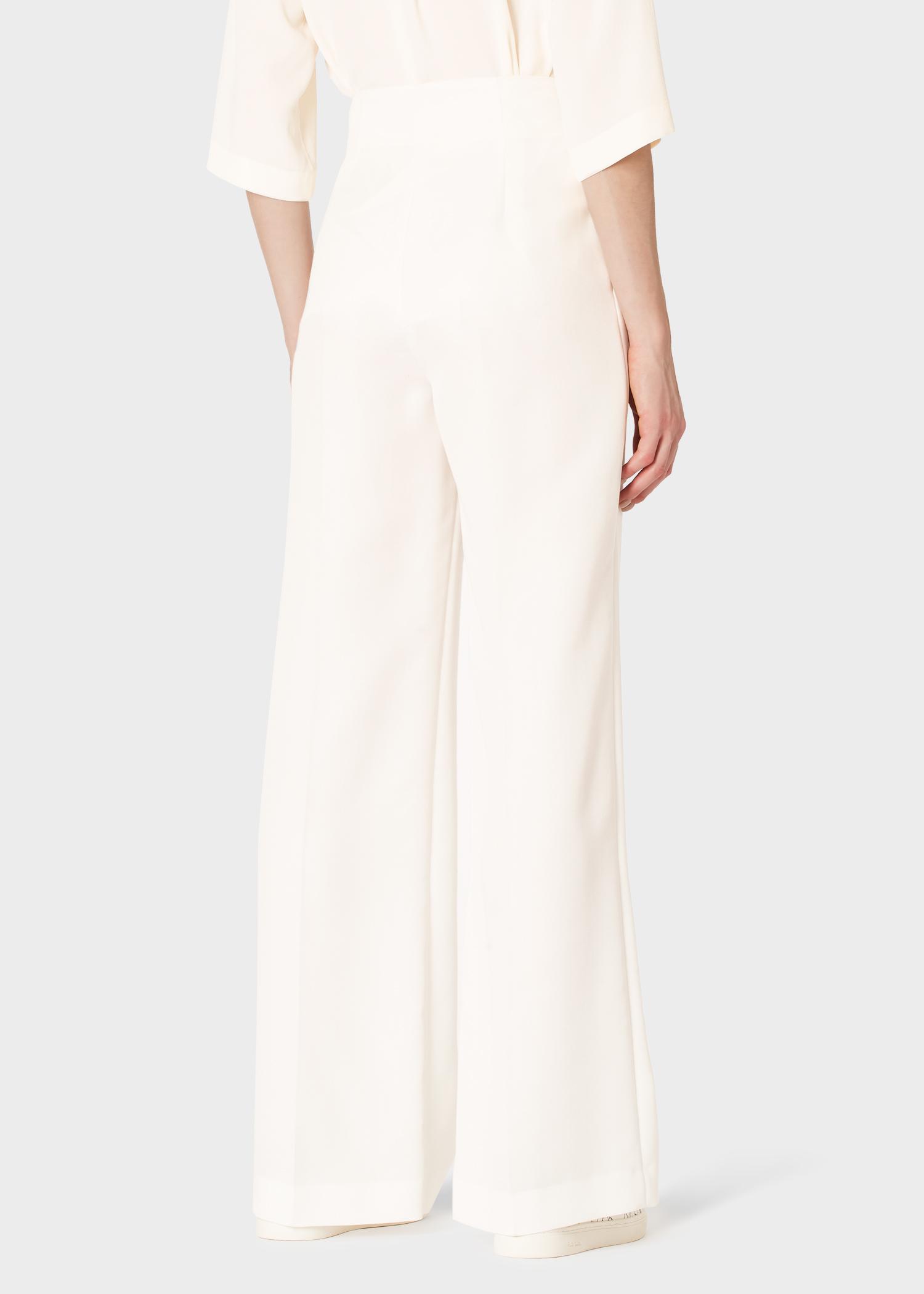 Pantalon Large Large Pantalon Pantalon Crème Femme Crème Femme Femme Plissé Large Plissé Crème 0kPn8Ow