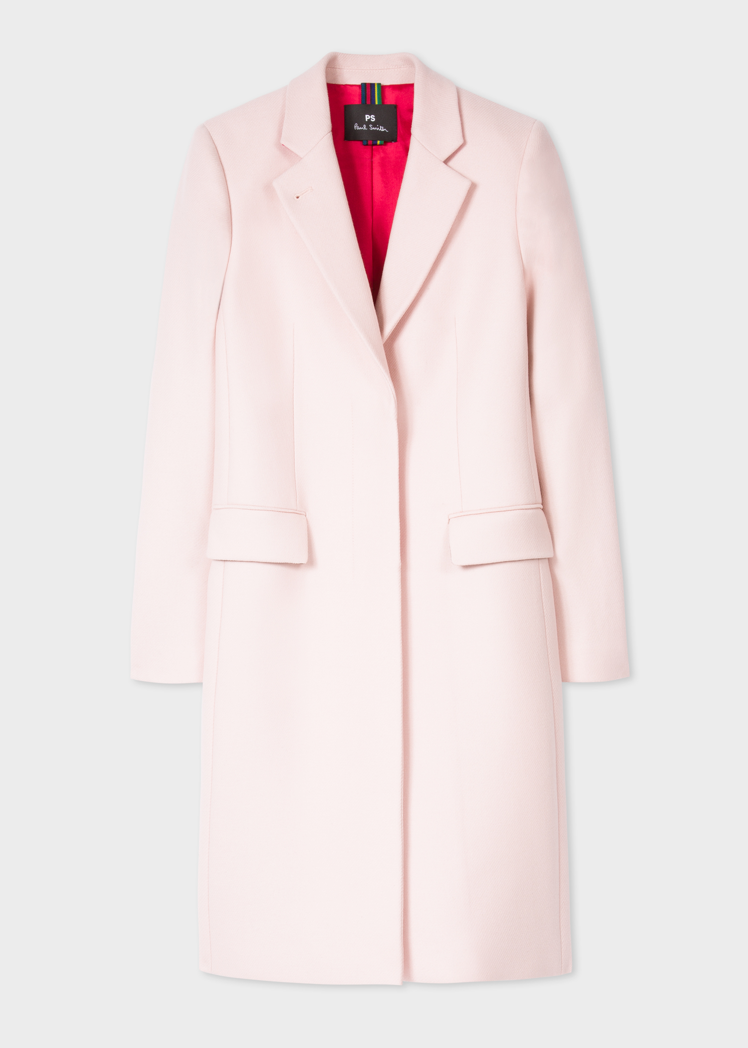 Women S Light Pink Wool And Cashmere Blend Epsom Coat