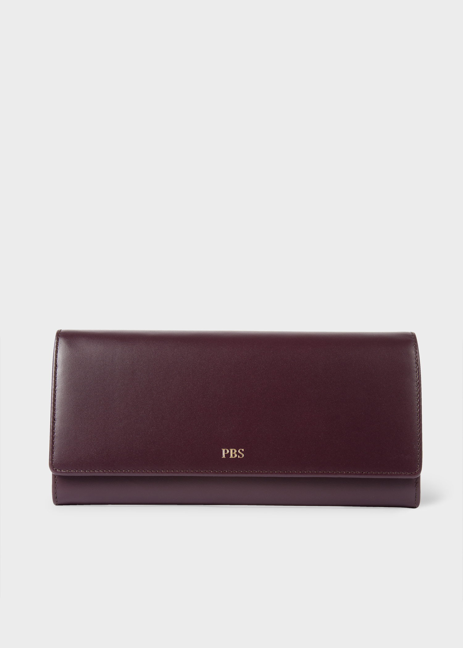 Women s Damson Leather Monogrammed Tri-Fold Purse - Paul Smith Asia 1e43ef41955f