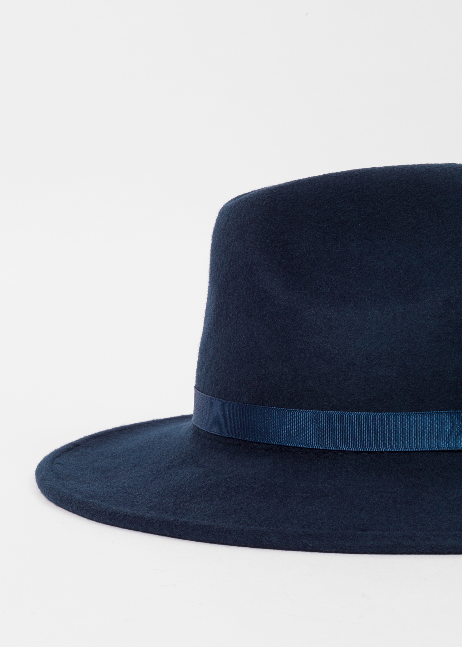 155ab85b91ee4c Detailed View - Women's Navy Wool Felt Fedora Hat Paul Smith