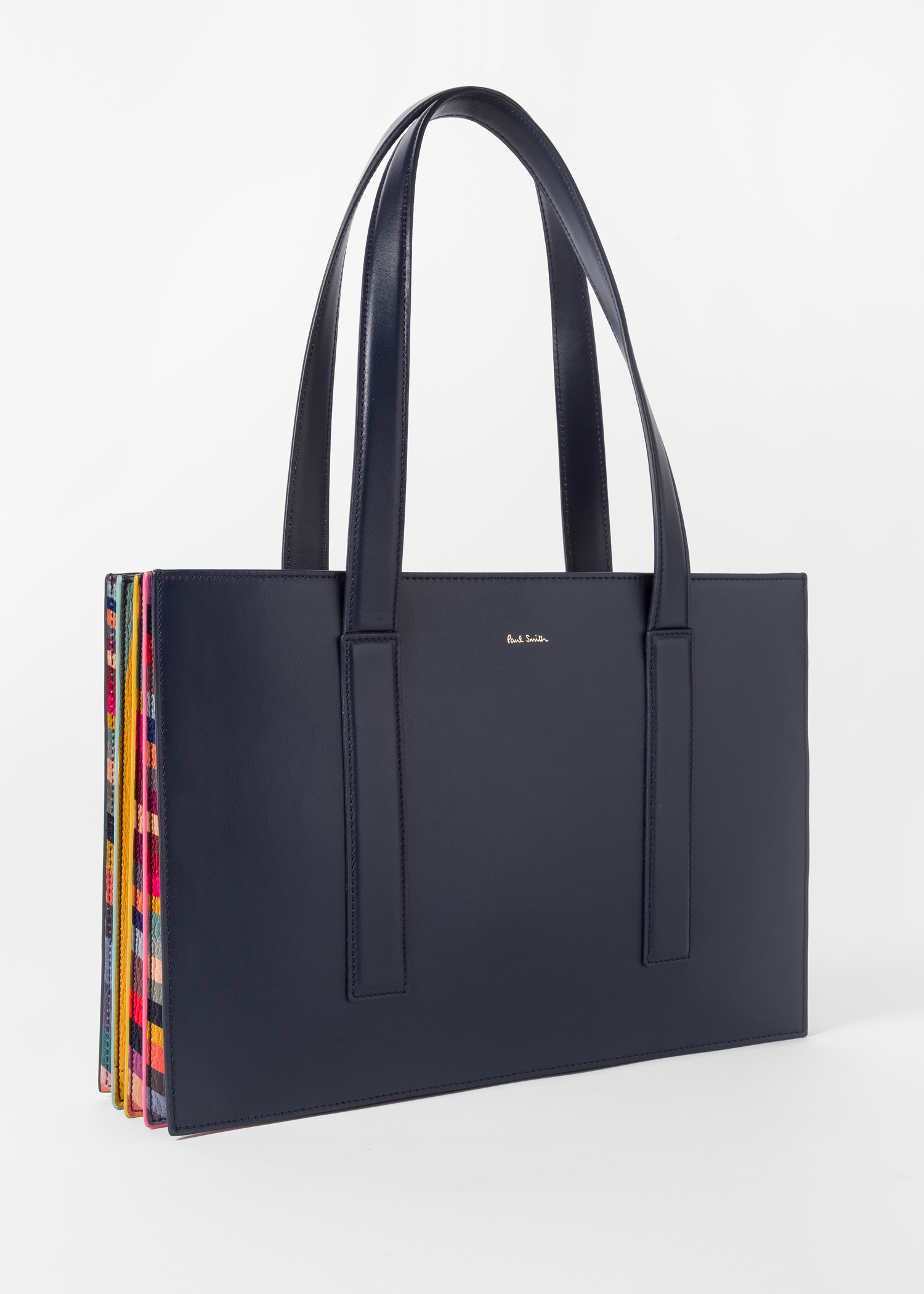 ce6ca3b41 Women's Navy 'Concertina Swirl' Small Leather Tote Bag - Paul Smith